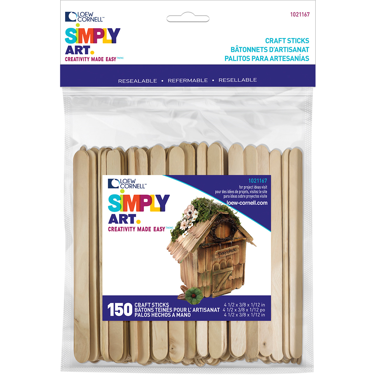 CRAFT STICKS 150 CT