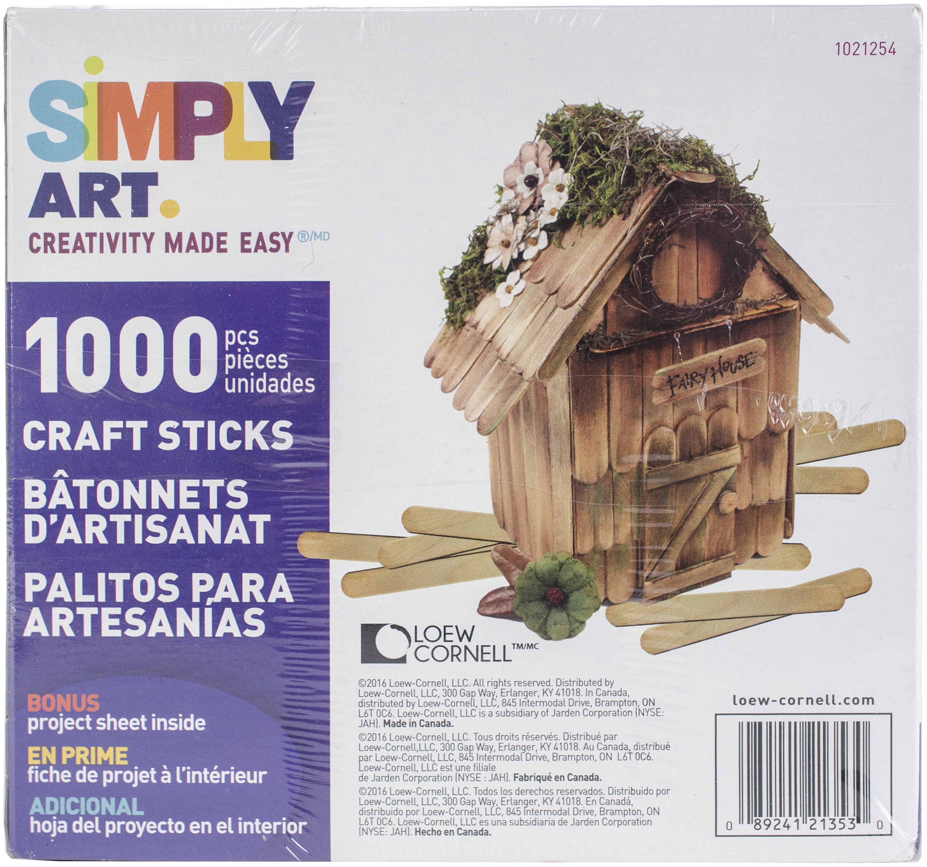"Jumbo Craft Sticks-Colored 4.5/"" 1,000//Pkg"