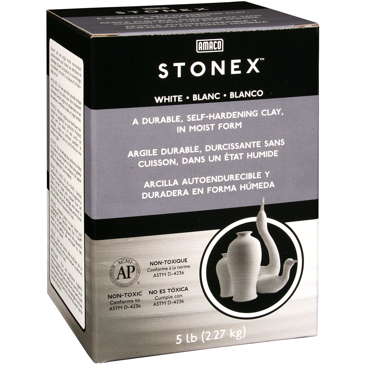 Stonex Self-Hardening Clay 5lb-White