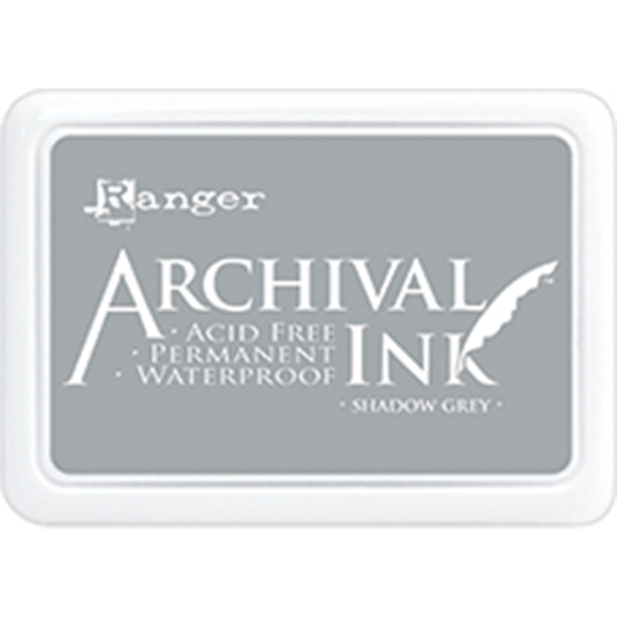 Ranger Archival Ink Pad #0-Shadow Grey