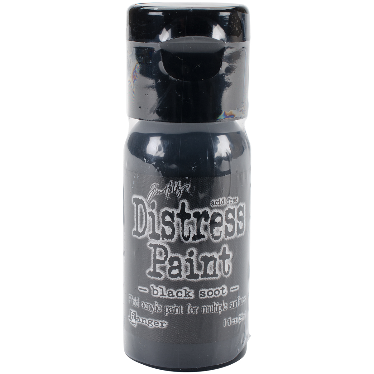 distress paint black soot