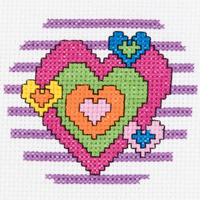 3 RD 14CT-HEART 1ST STITCH