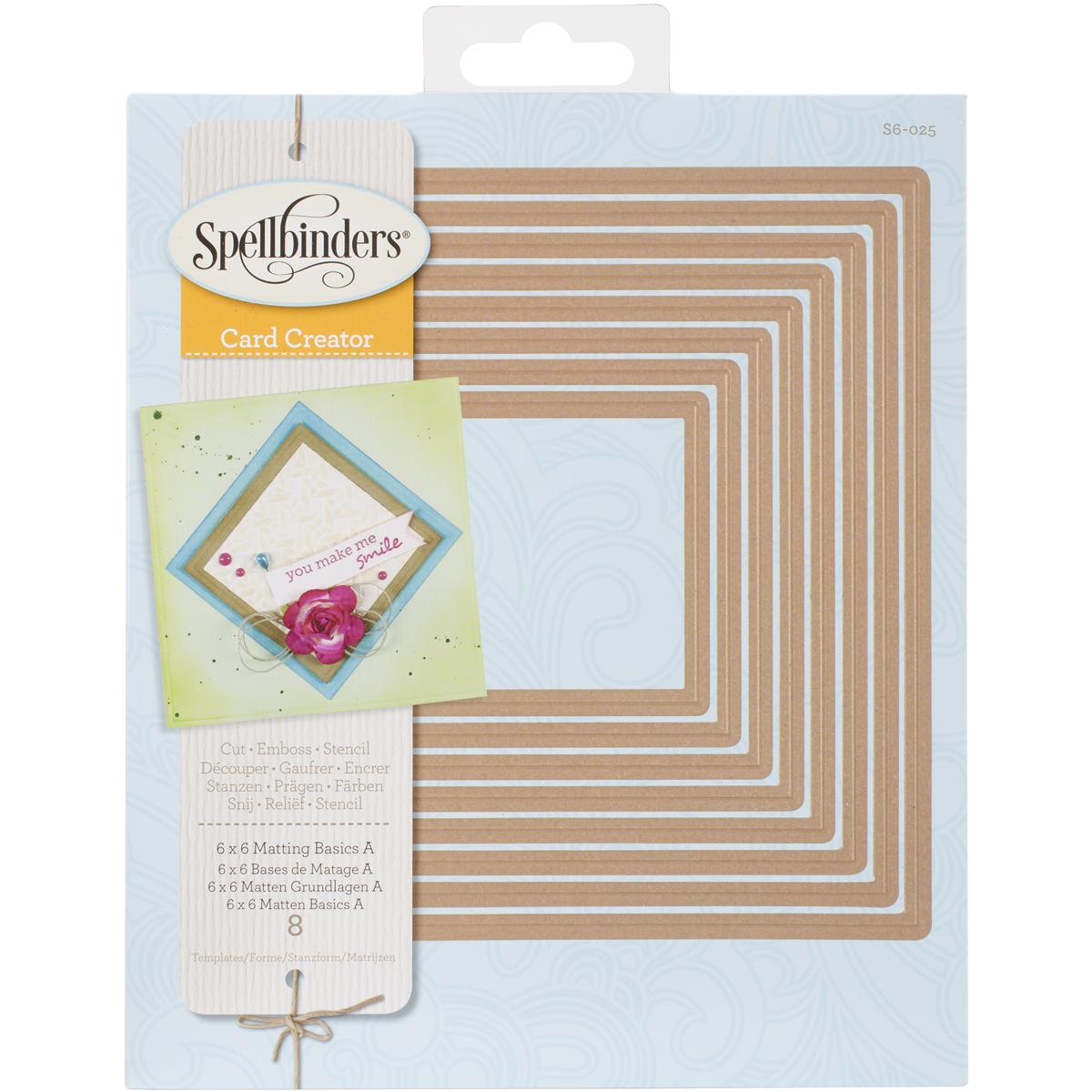 Spellbinders Card Creator Dies 6X6-Matting Basics A