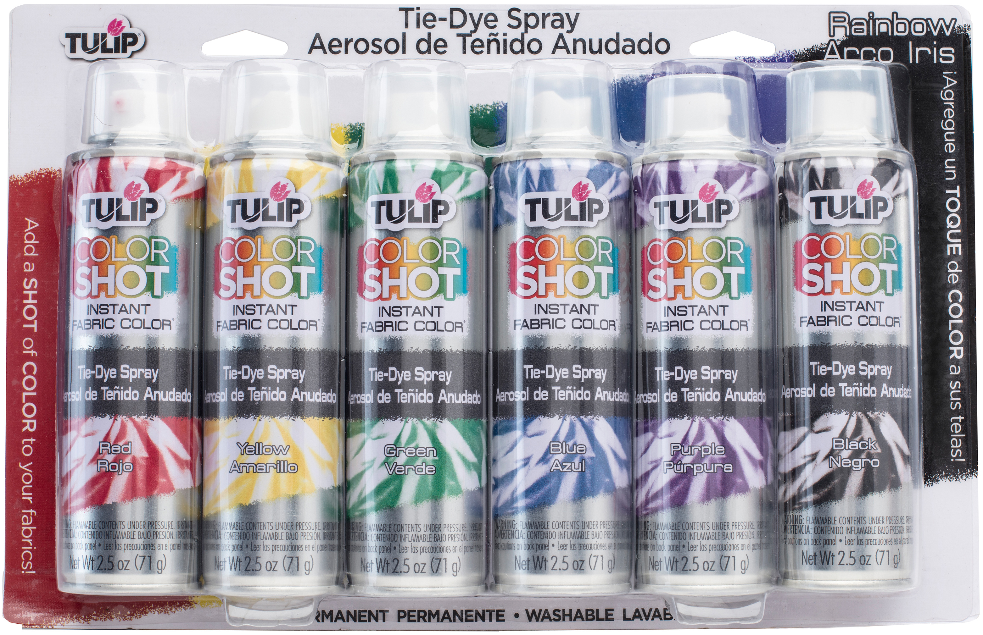 Tulip ColorShot Instant Fabric Color Spray Tie-Dye Kit-Rainbow