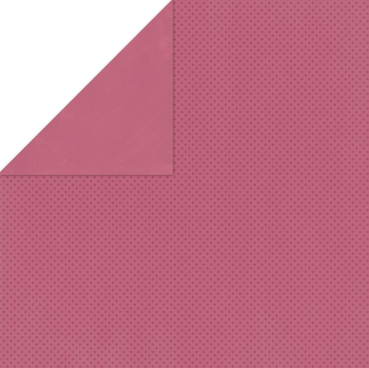 BoBunny Double Dot Double-Sided Textured Cardstock 12X12-Raspberry