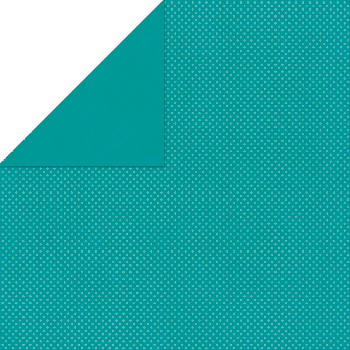 BoBunny Double Dot Double-Sided Textured Cardstock 12X12-Turquoise