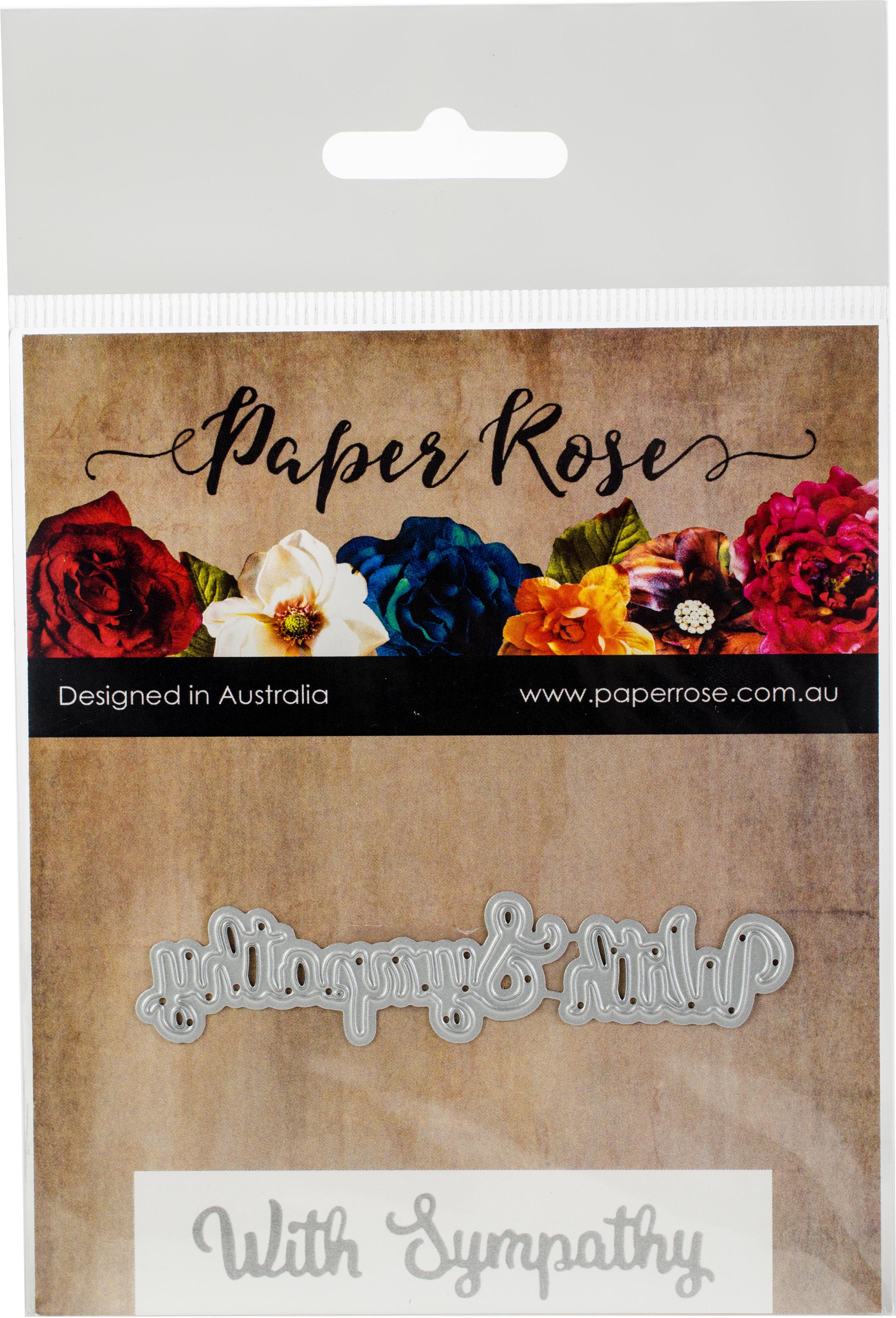Paper Rose Dies-With Sympathy
