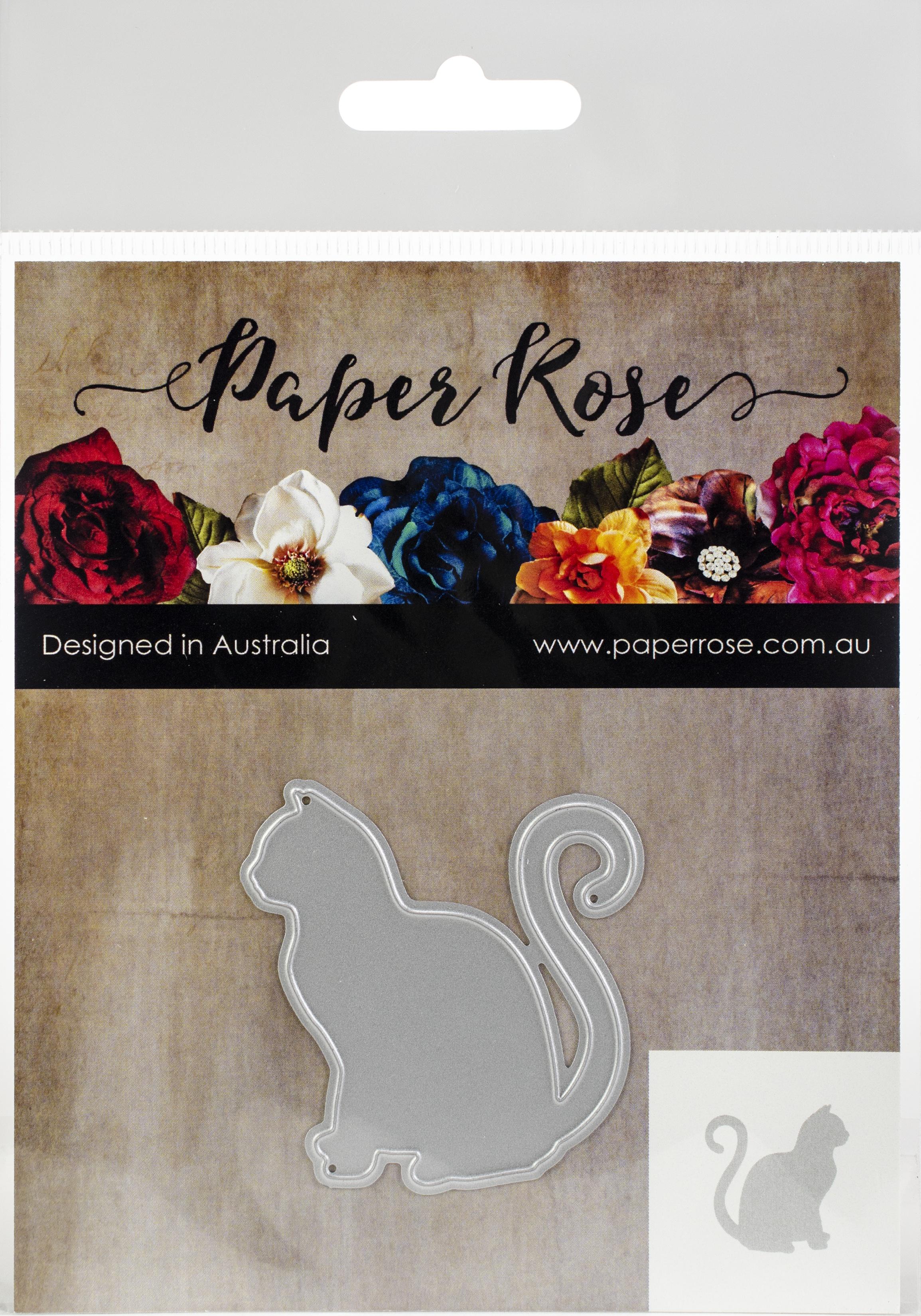 Paper Rose Dies-Sitting Cat - Large