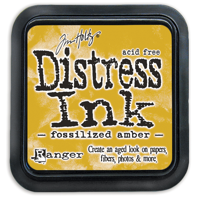 DISTRESS INK PAD - FOSSILIZED AMBER