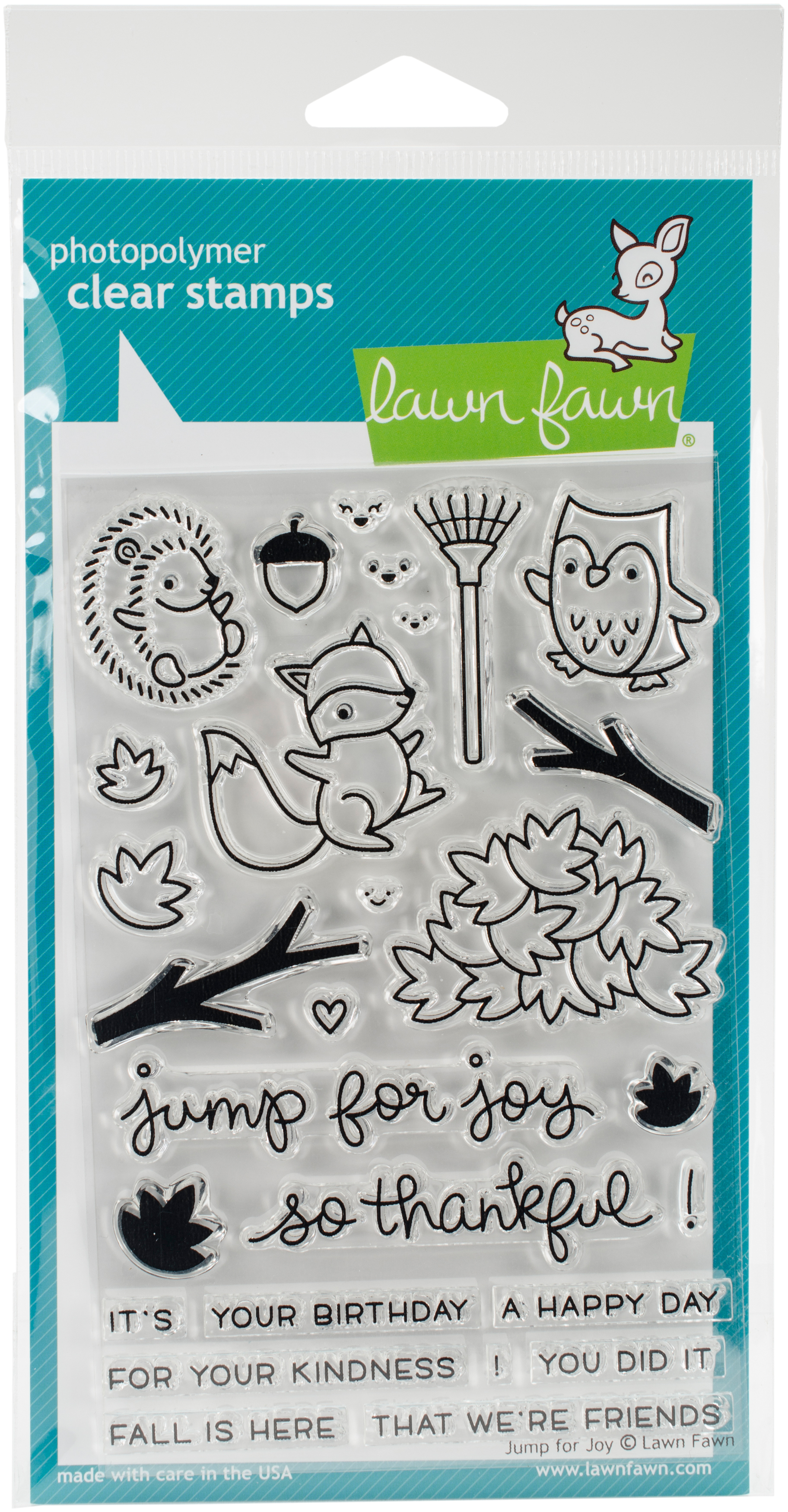 Lawn Fawn Clear Stamps 4X6-Jump For Joy