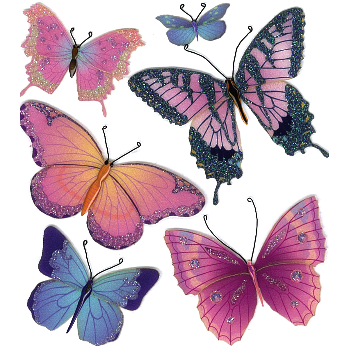 Butterflies Dimensional Stickers