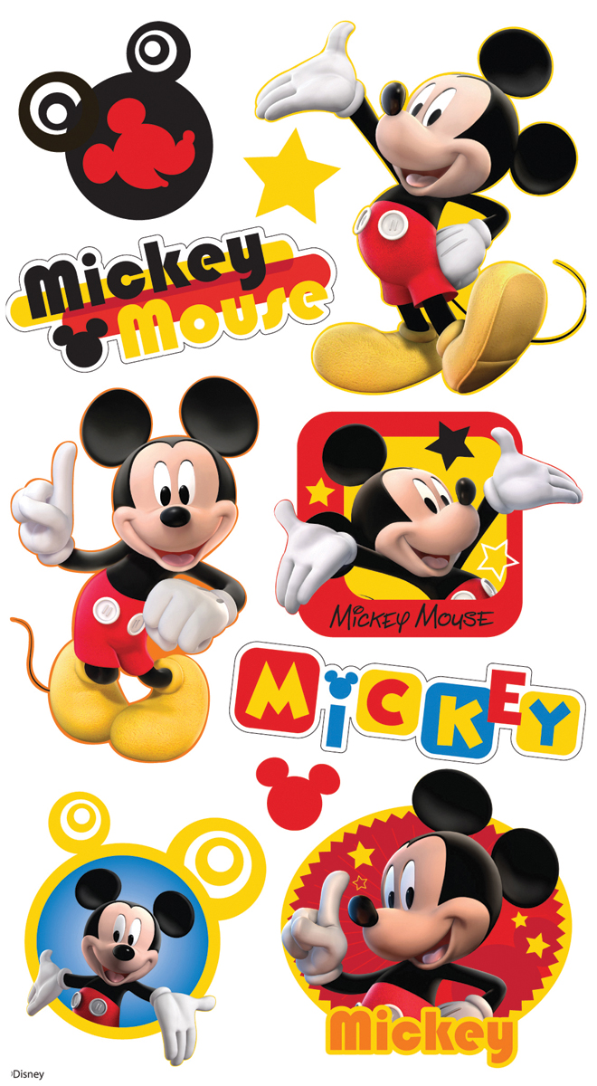 Disney Puffy Stickers-Mickey Mouse
