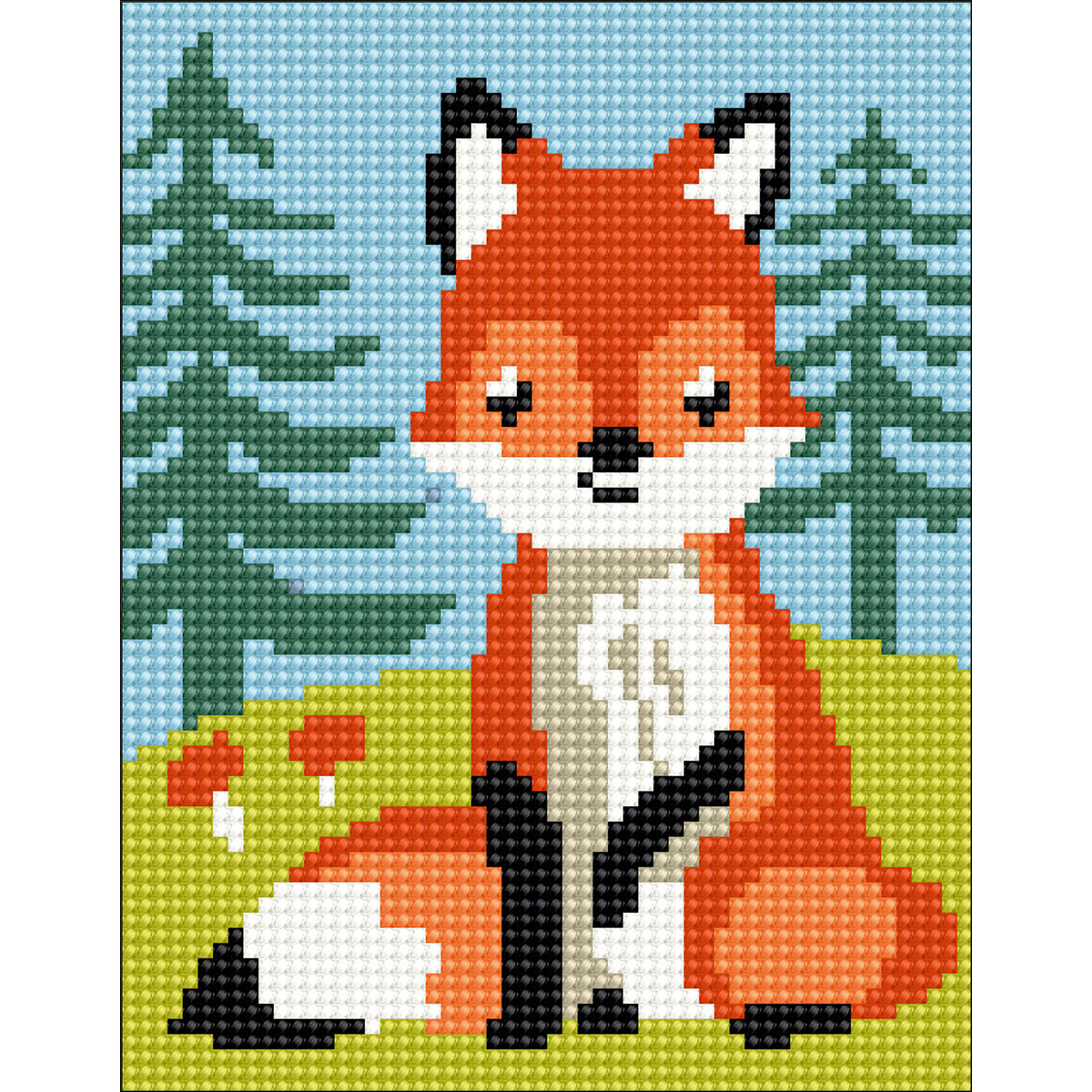 Fox Cub Stamped Needlepoint Kit
