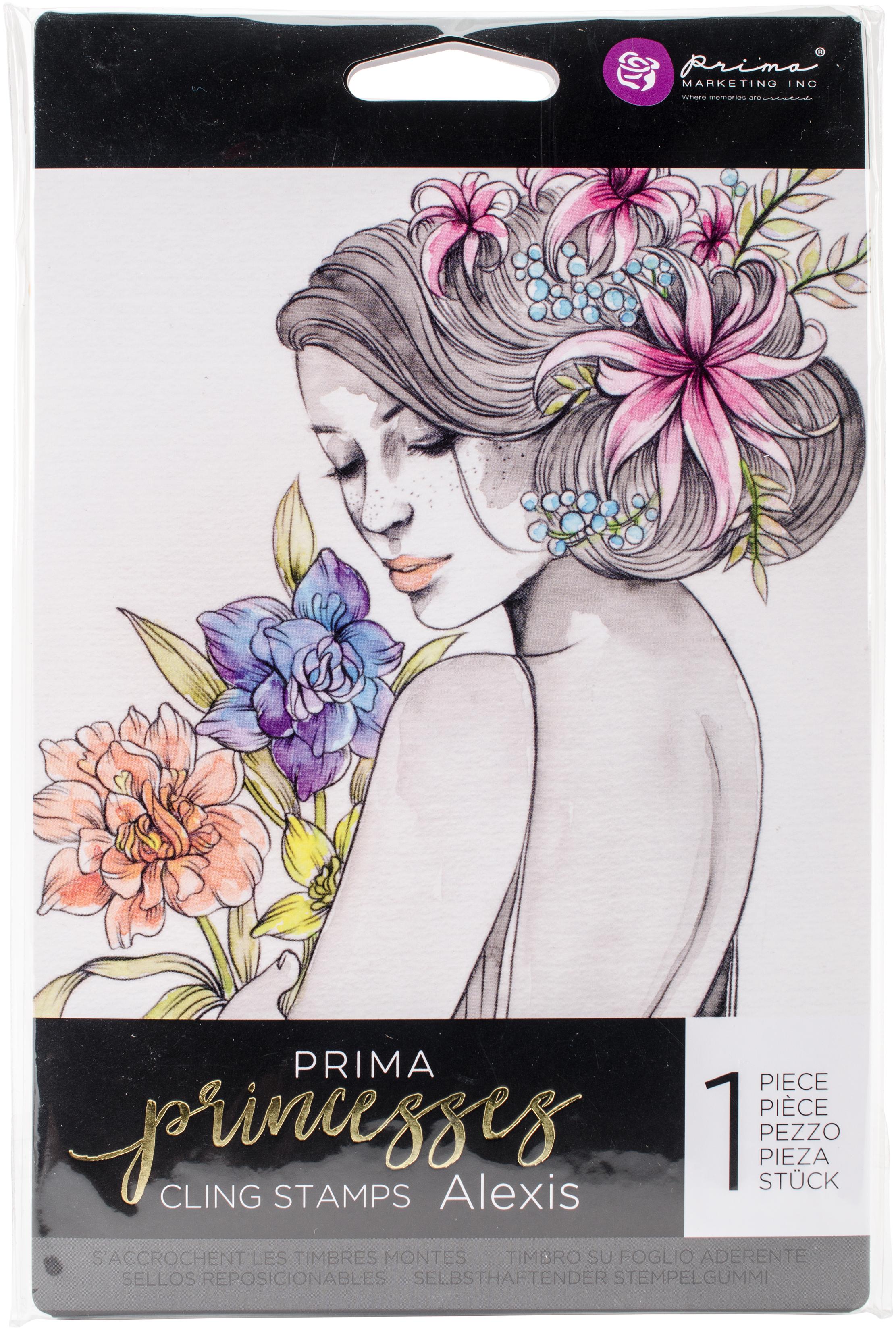 Prima Marketing Princesses Cling Stamp 5X7-Alexis