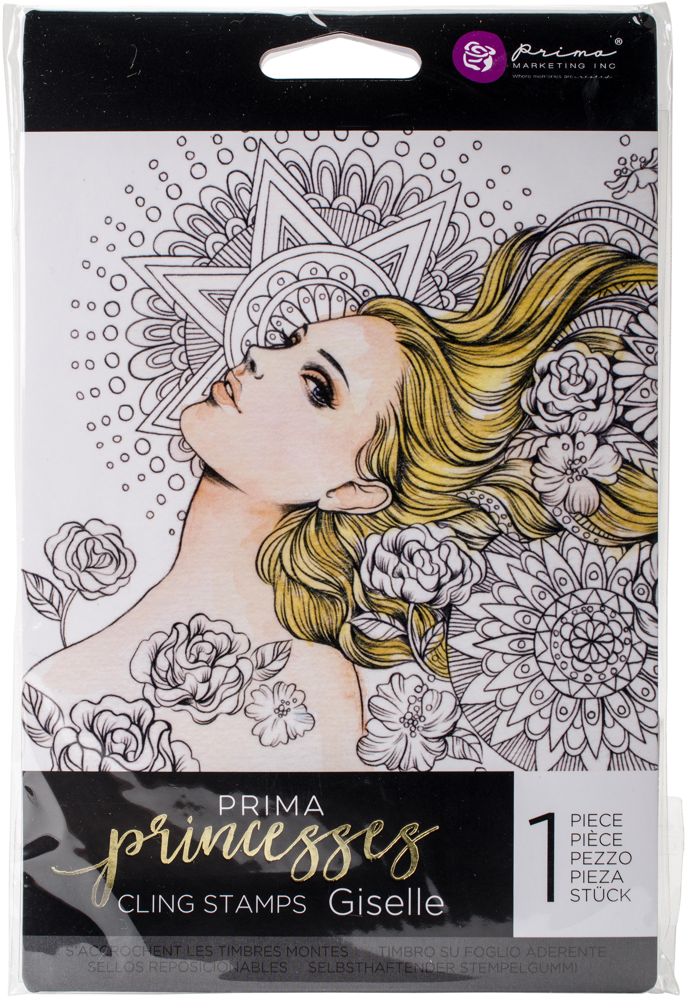 Prima Marketing Princesses Cling Stamp 5X7-Giselle