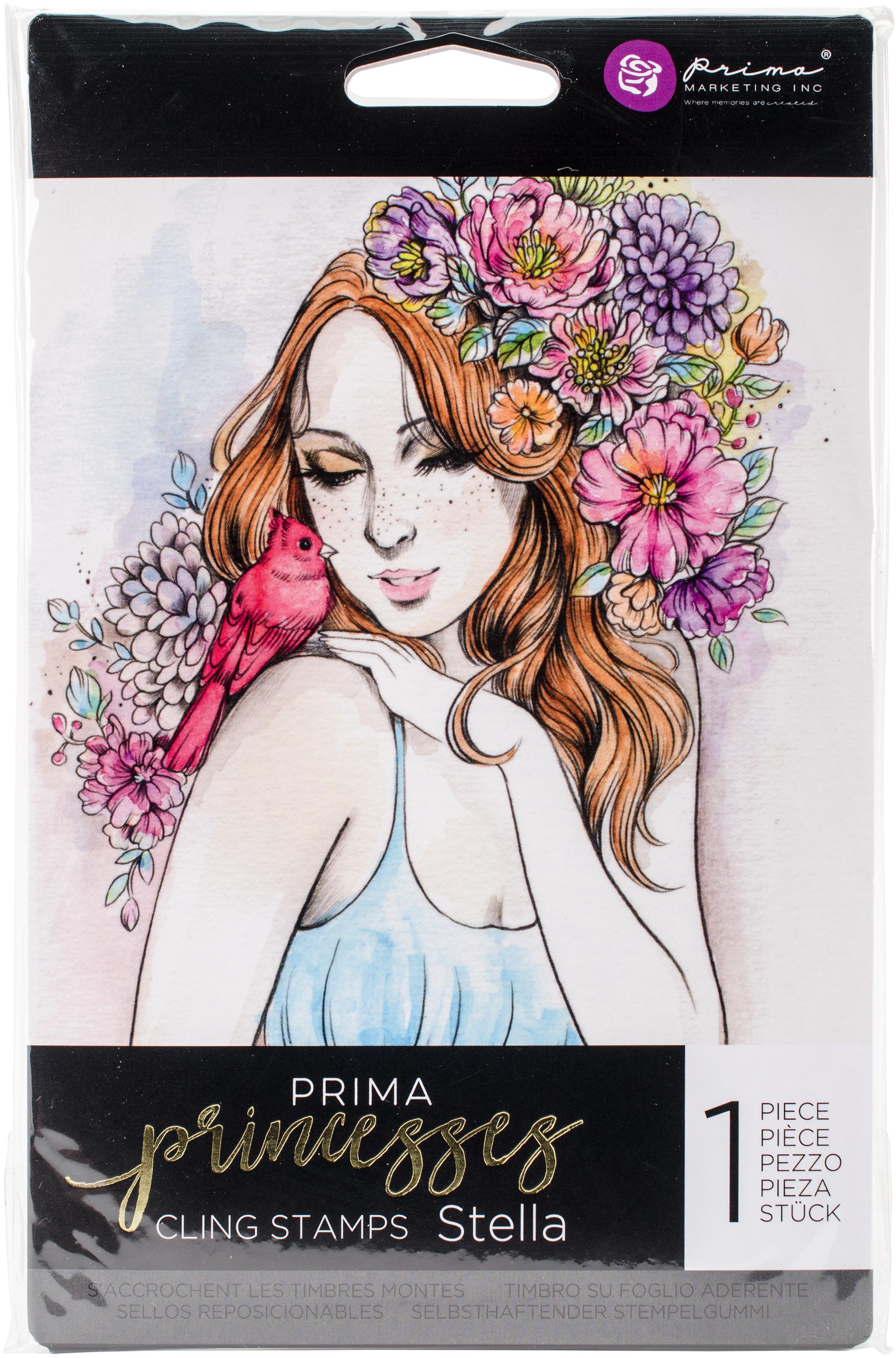 Prima Marketing Princesses Cling Stamp 5X7-Stella