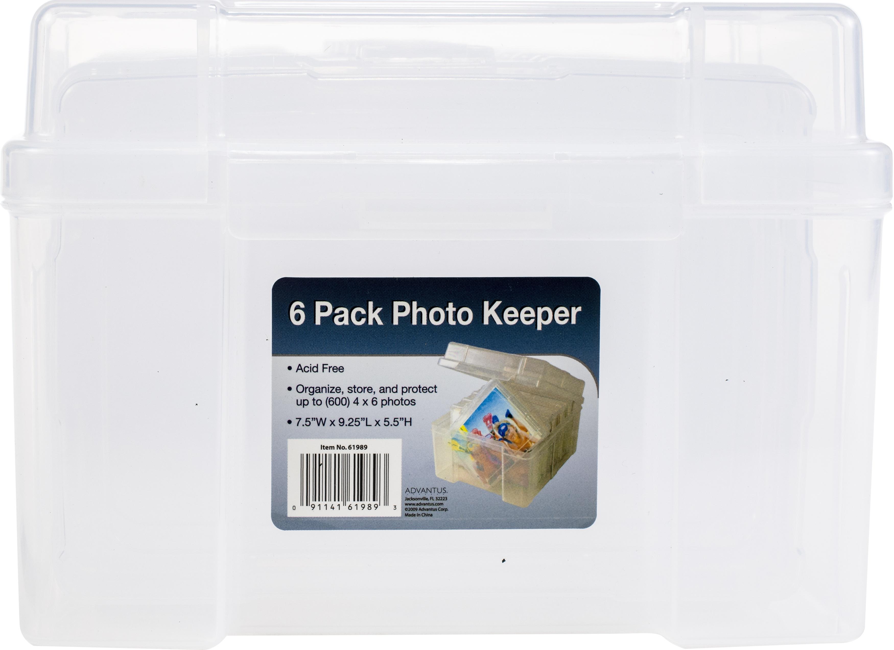 STORAGE-PHOTO KEEPER BOX W/6 CLEAR CASES