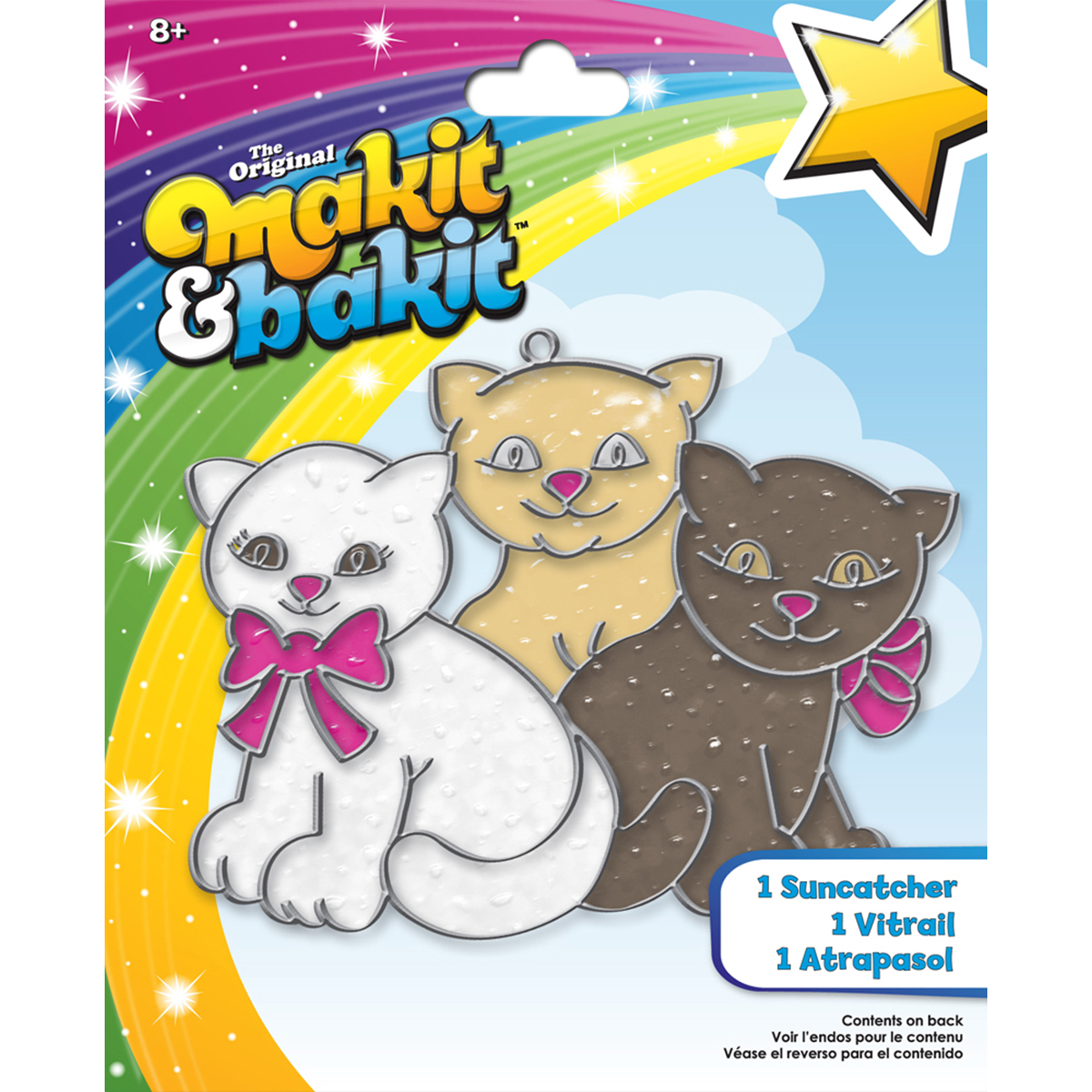 Makit & Bakit Glittering Suncatcher Kits-Kittens