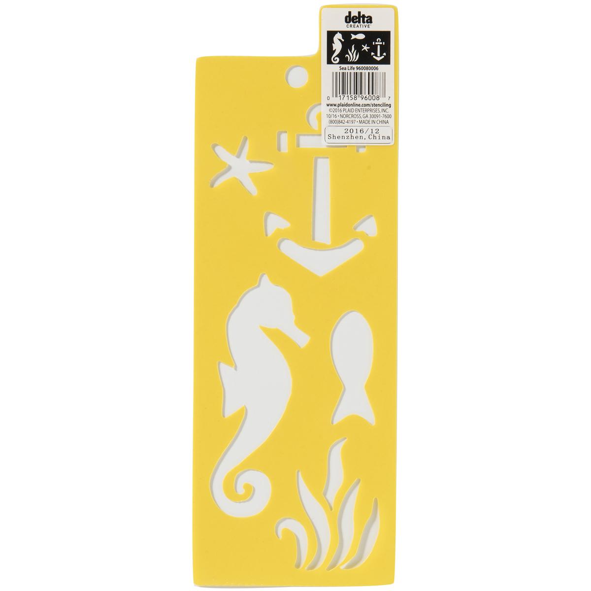 Delta Stencil 3X8.5-Sea Life