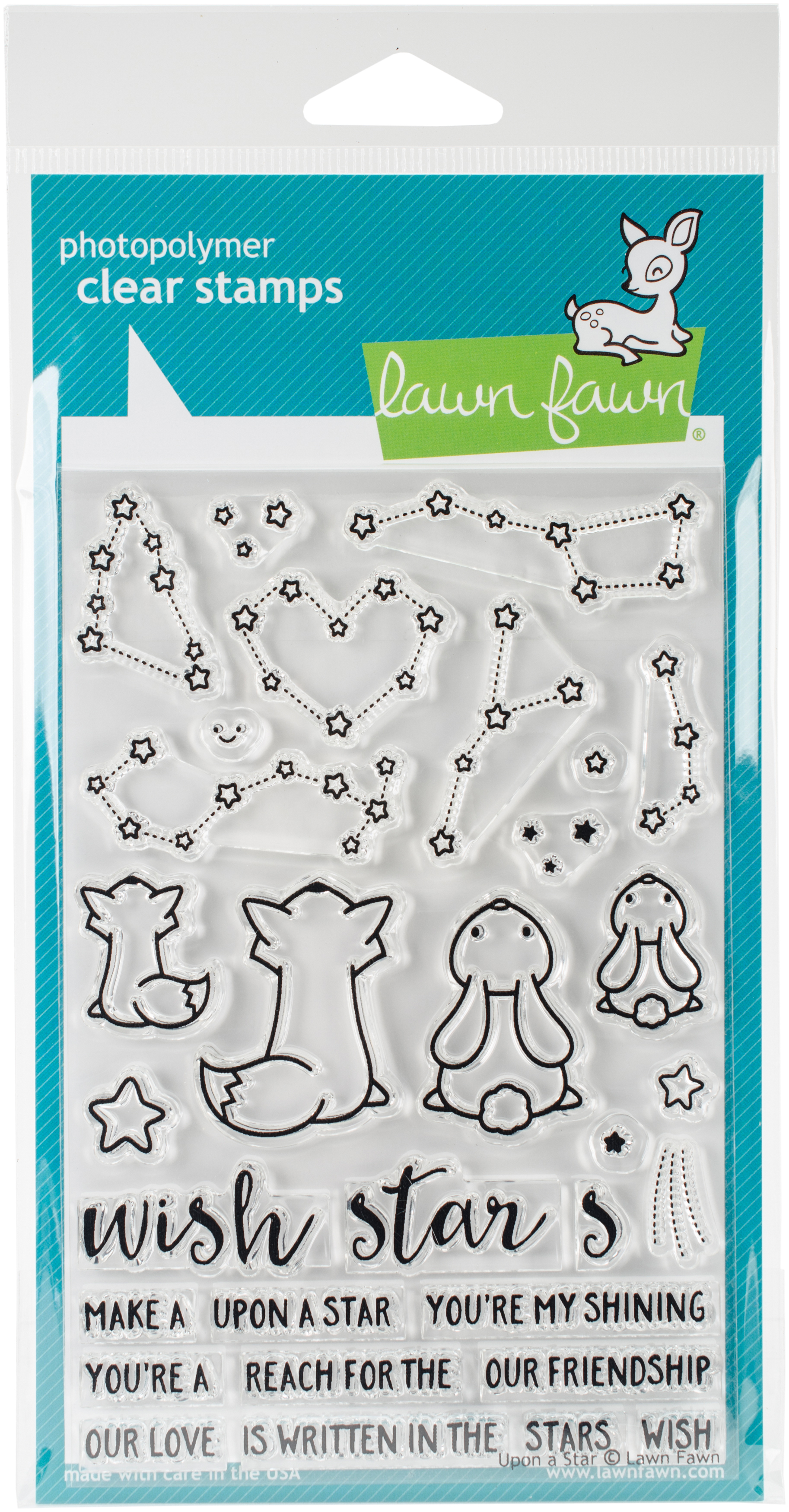 Lawn Fawn Clear Stamps 4X6-Upon A Star