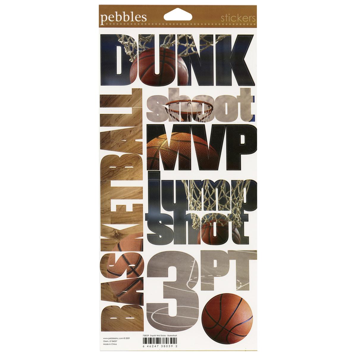 Basketball Words Sticker
