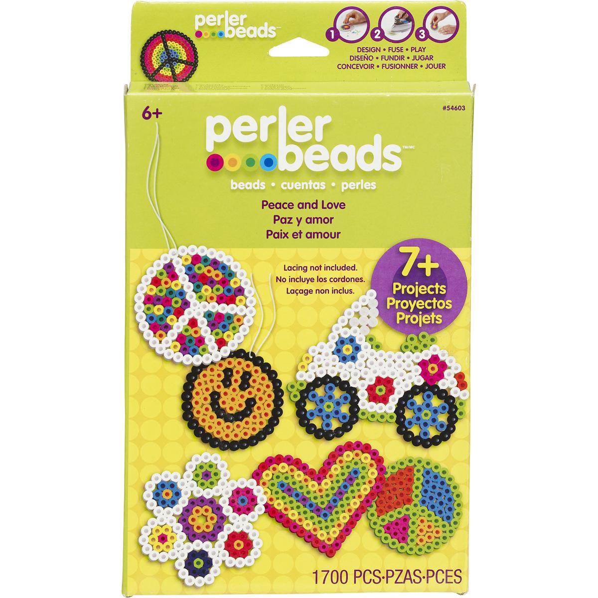 Perler Fused Bead Kit-Peace & Love