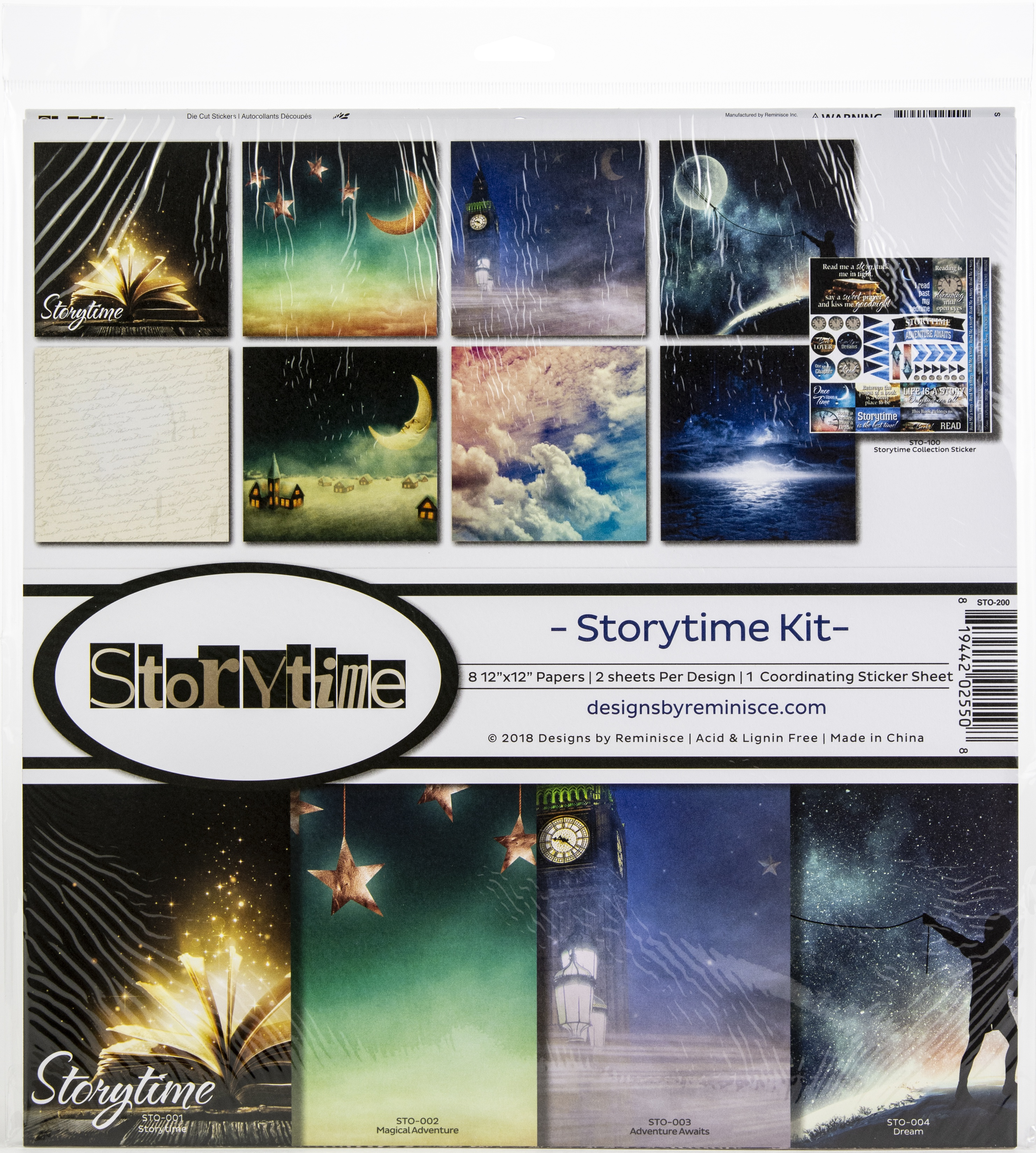 Reminisce Collection Kit 12'x12' - Storytime