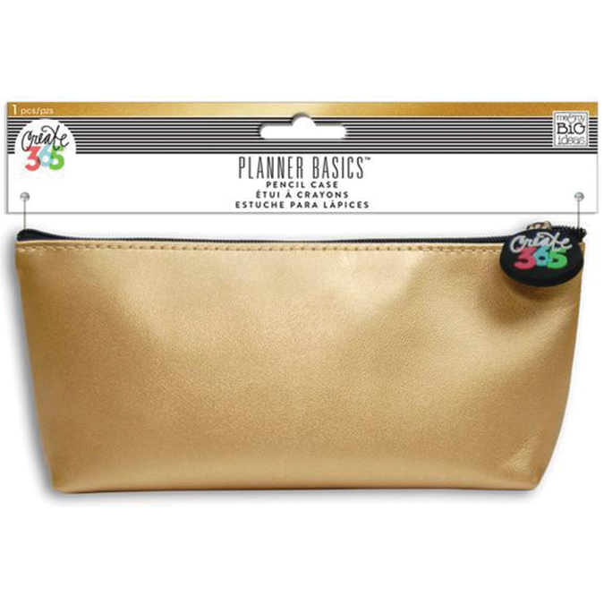 Happy Planner Pencil Pouch 3.5X8.25-Gold