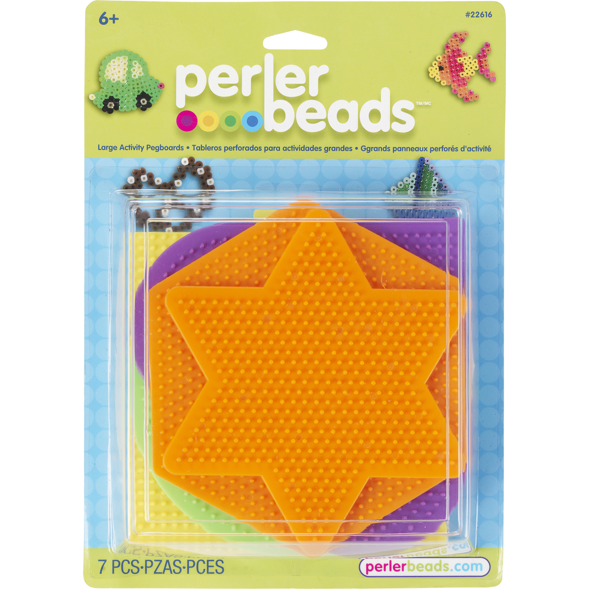 Perler Pegboards 5/Pkg-Assorted Shapes & Colors