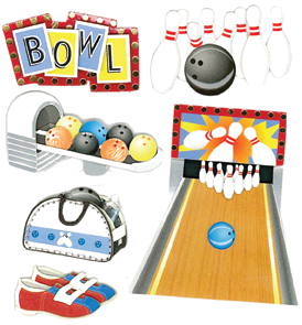 Jolee's Boutique Dimensional Stickers-Bowling Alley