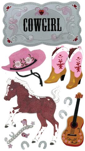 Cowgirl Jolee Sticker