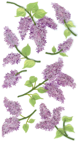 Jolee's Le Grande Dimensional Stickers-Lovely Lilacs