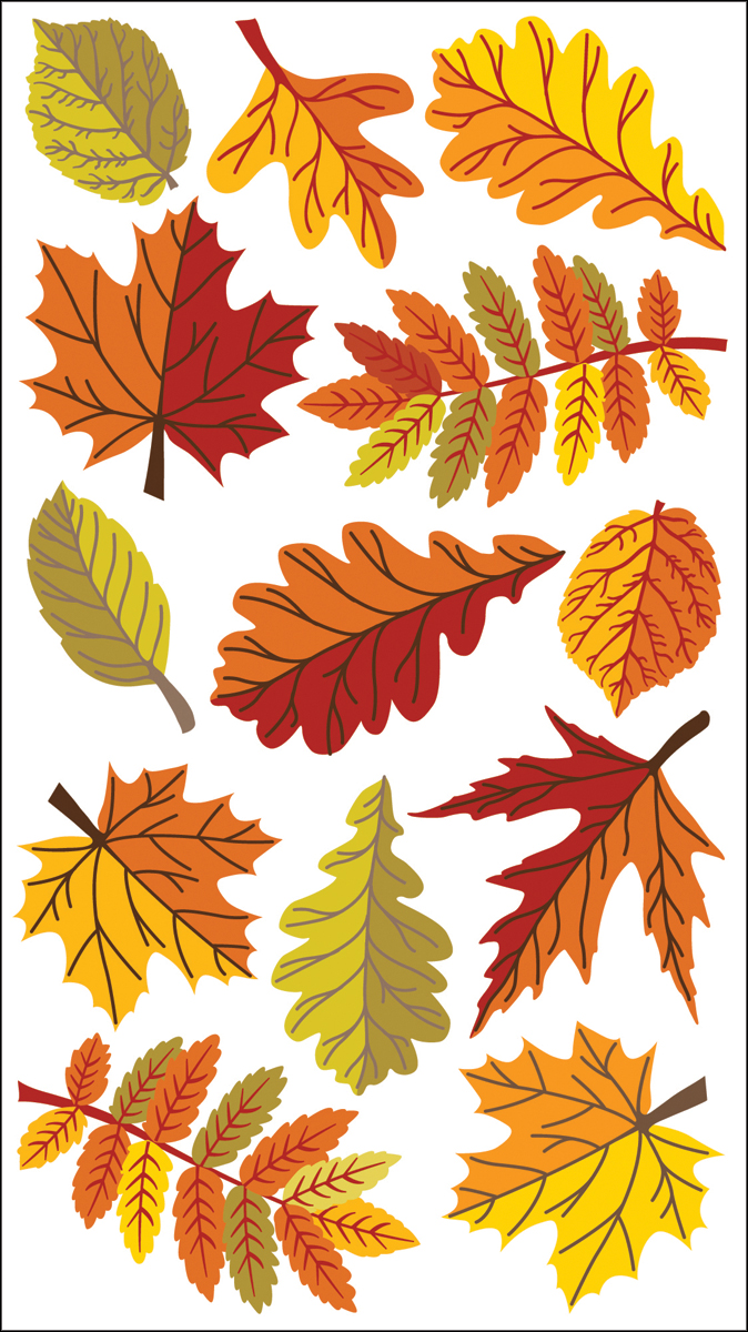 Sticko Dimensional Stickers-Fall Leaves