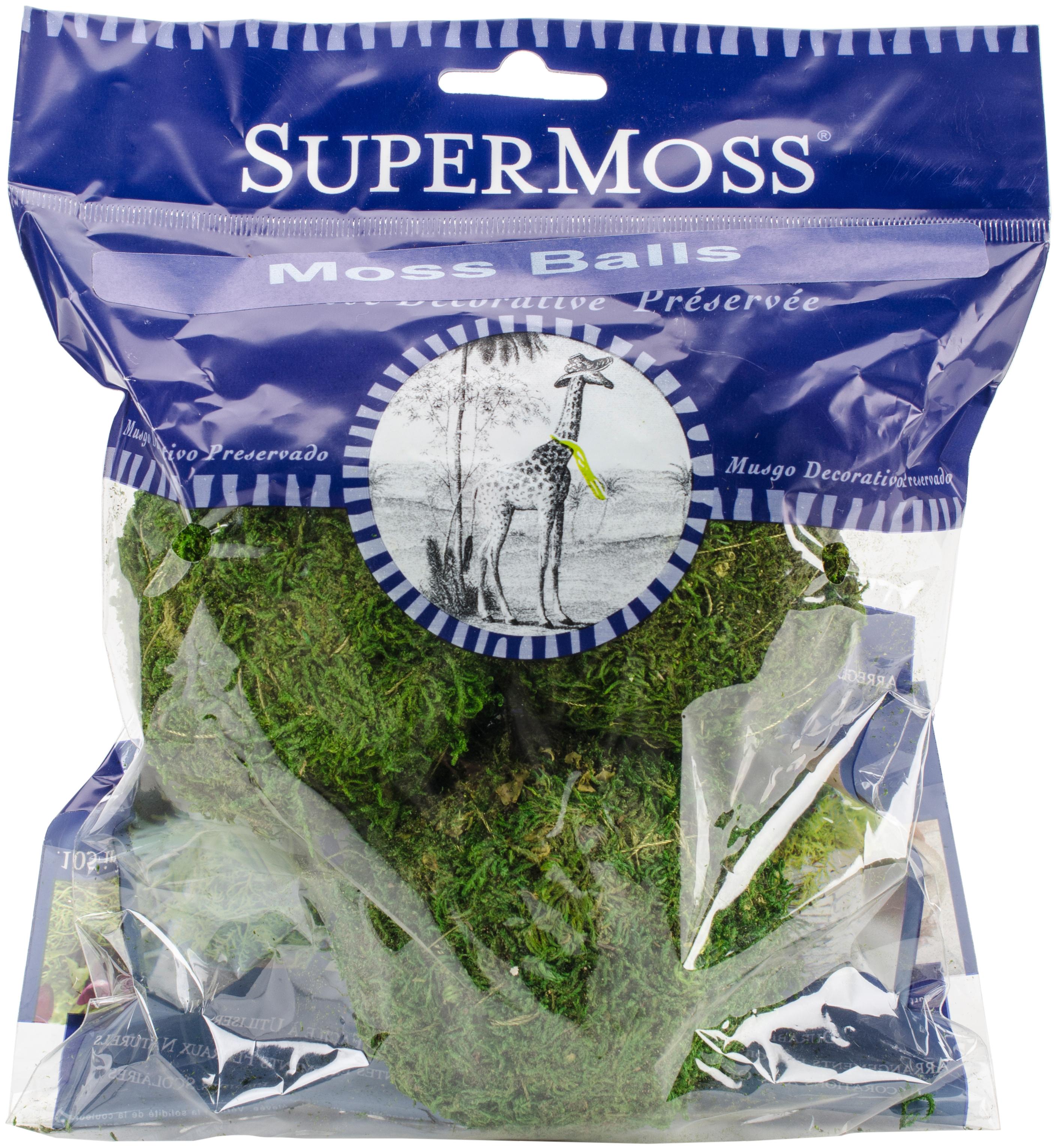 Super Moss Moss Balls 2.5 3/Pkg-Green