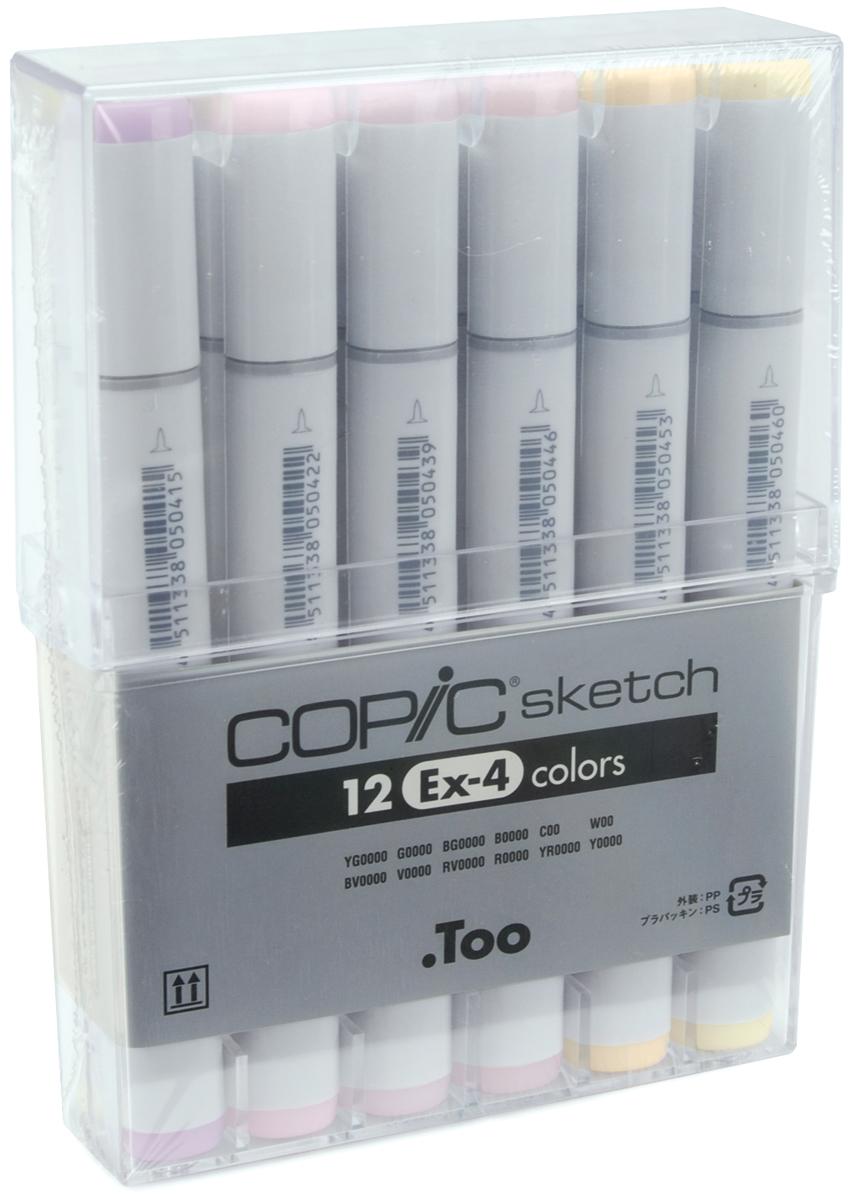 Copic Sketch Markers Set 12/Pkg-Ex-4