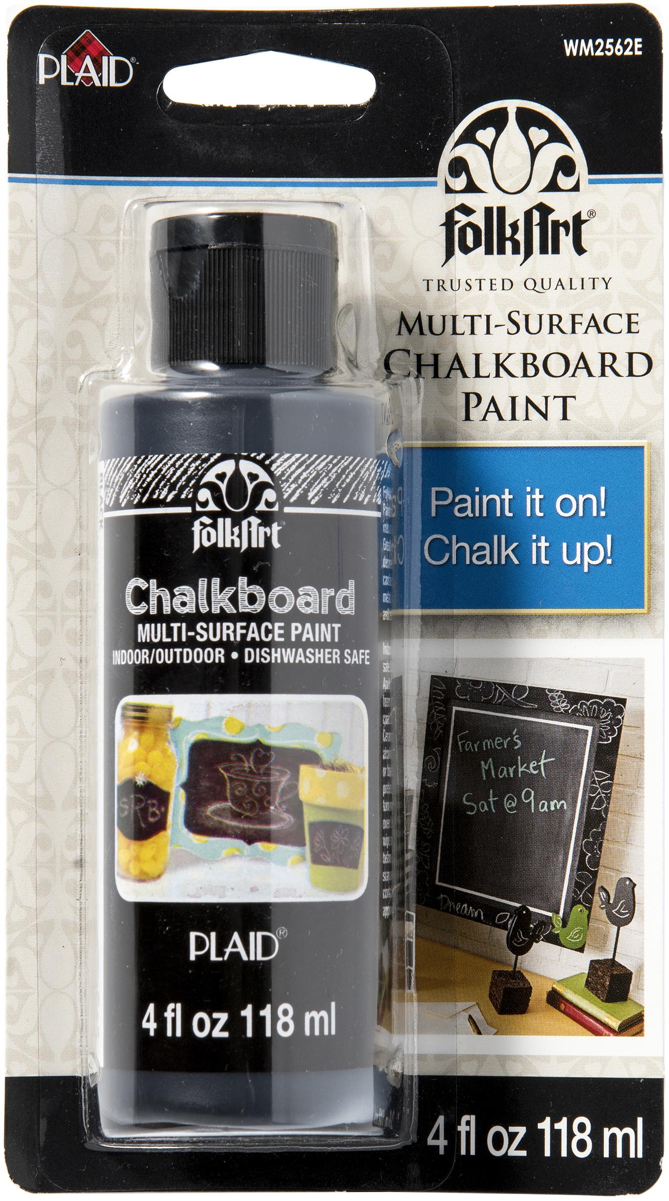 FolkArt Chalkboard Multi-Purpose Paint Carded 4oz-Black