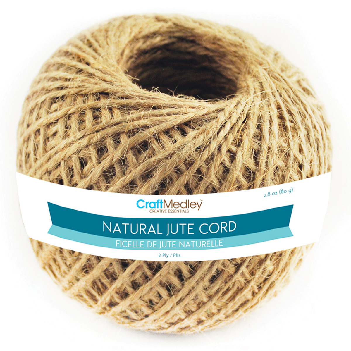 Jute Cord 2ply 80g-Natural
