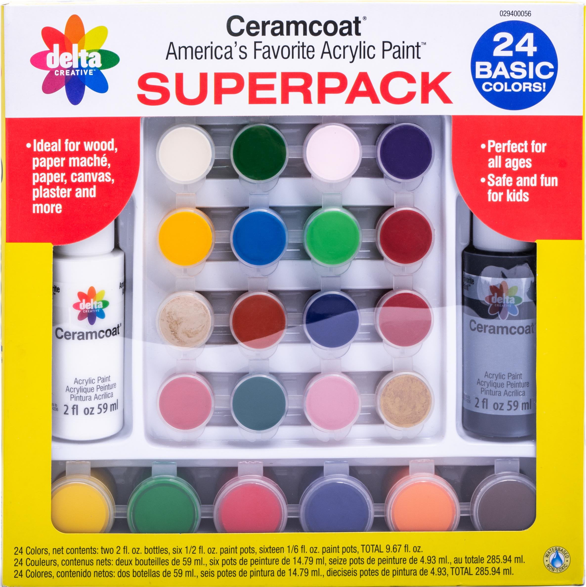 Ceramcoat Paint Superpack Set 24/Pkg-Basics