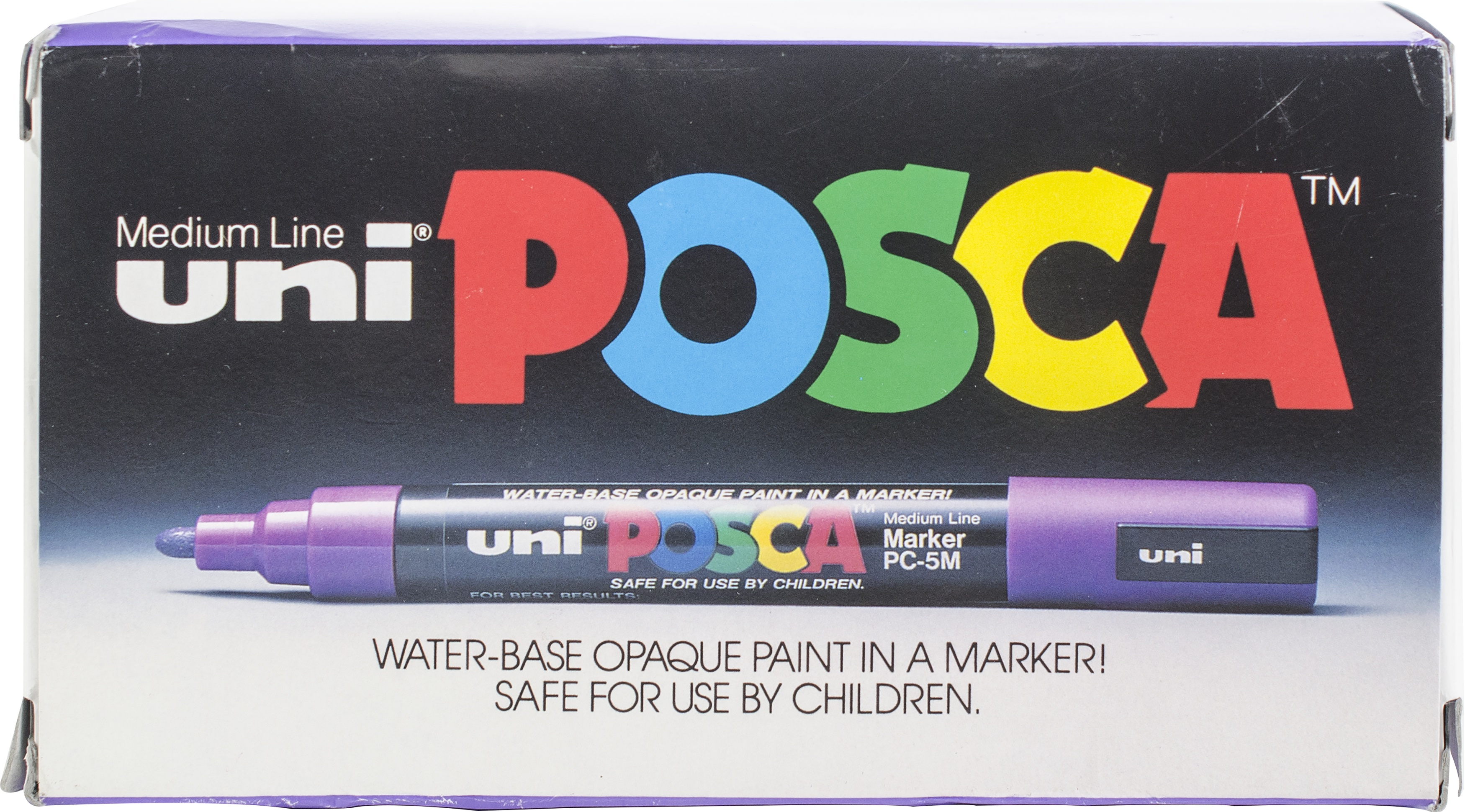 Uni-Paint Posca Paint Marker Pen - 2.5mm Tip 12/Pkg-White