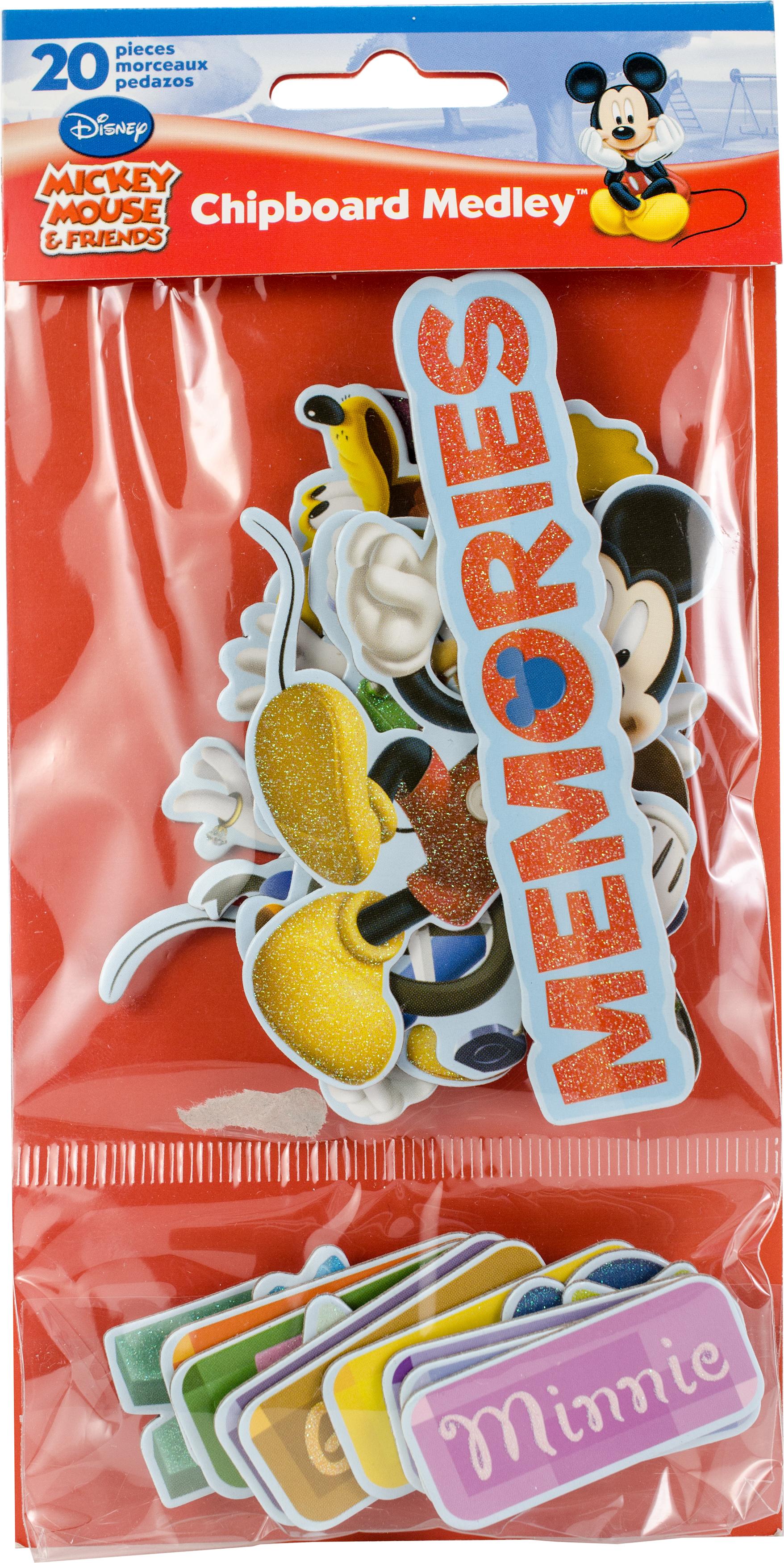 SandyLion Disney Chipboard Medley-Mickey & Friends