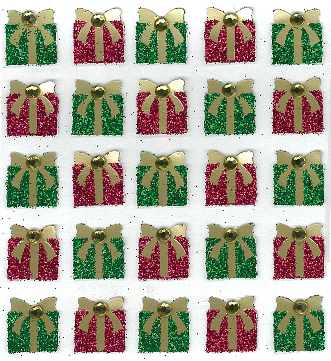 Jolee's Cabochon Dimensional Repeat Stickers-Christmas Present Repeats