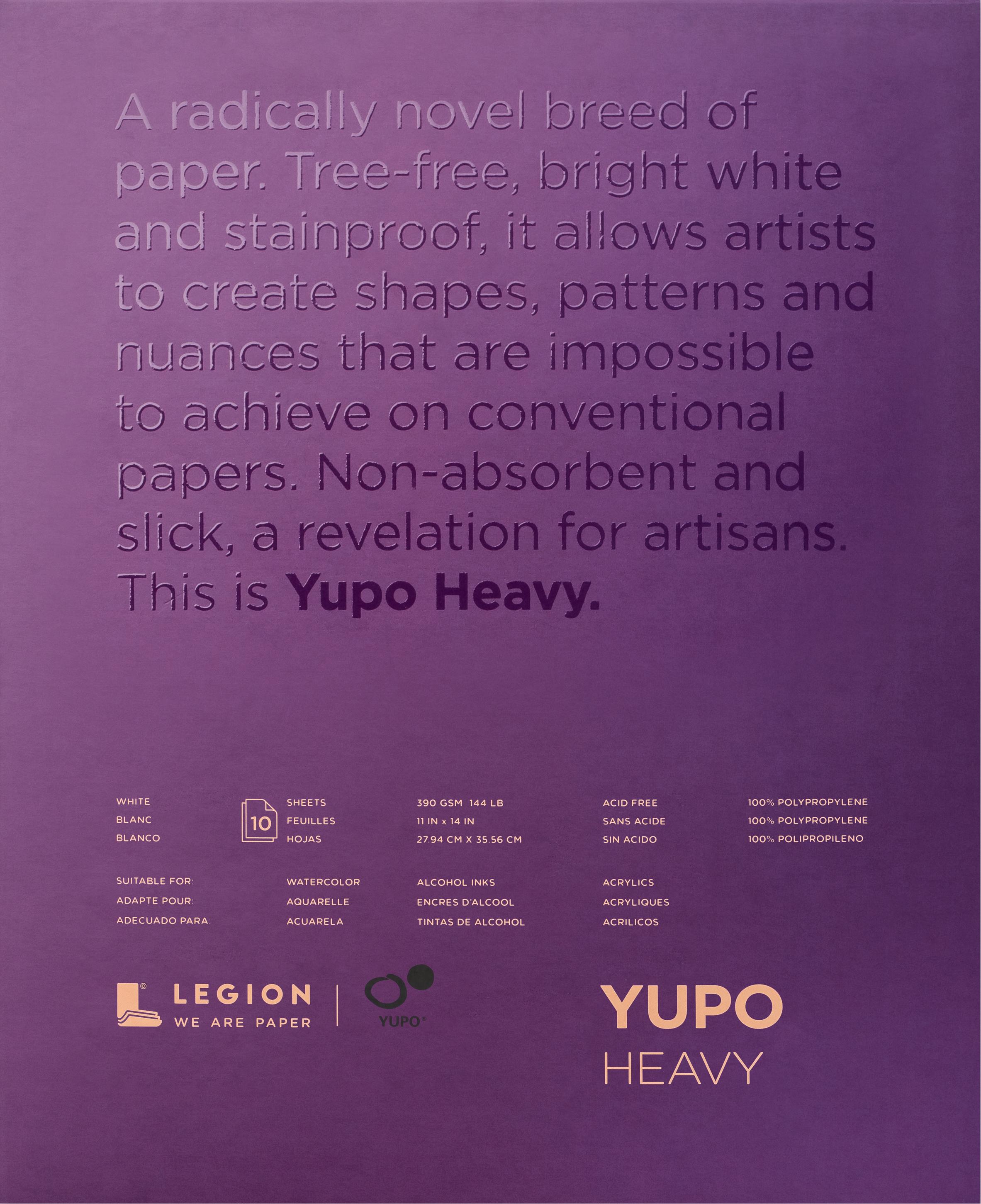 Yupo Heavy Pads 11X14 10 Sheets/Pkg-White 144lb