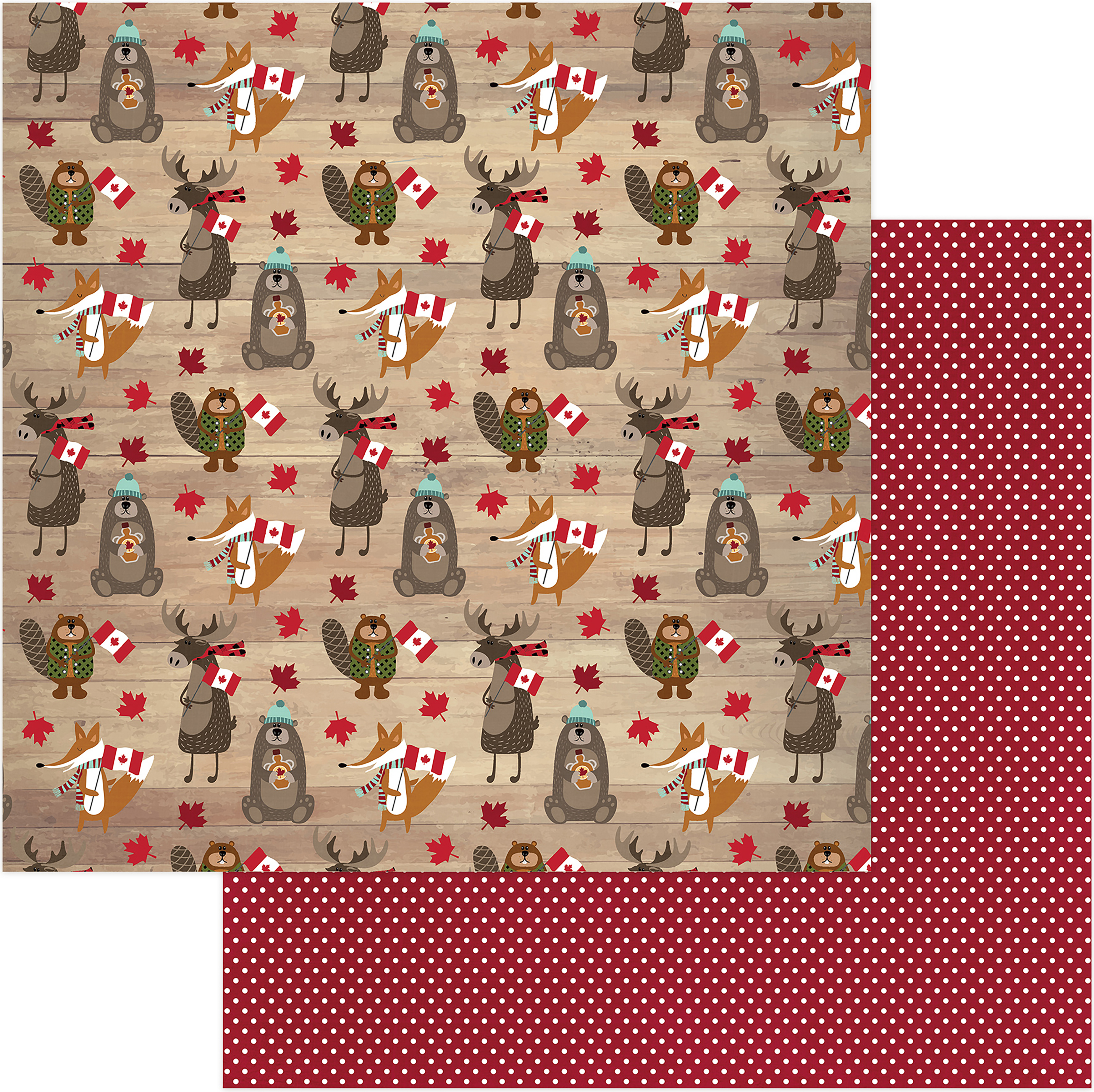 O Canada Double-Sided Cardstock 12X12-Canadian Critters
