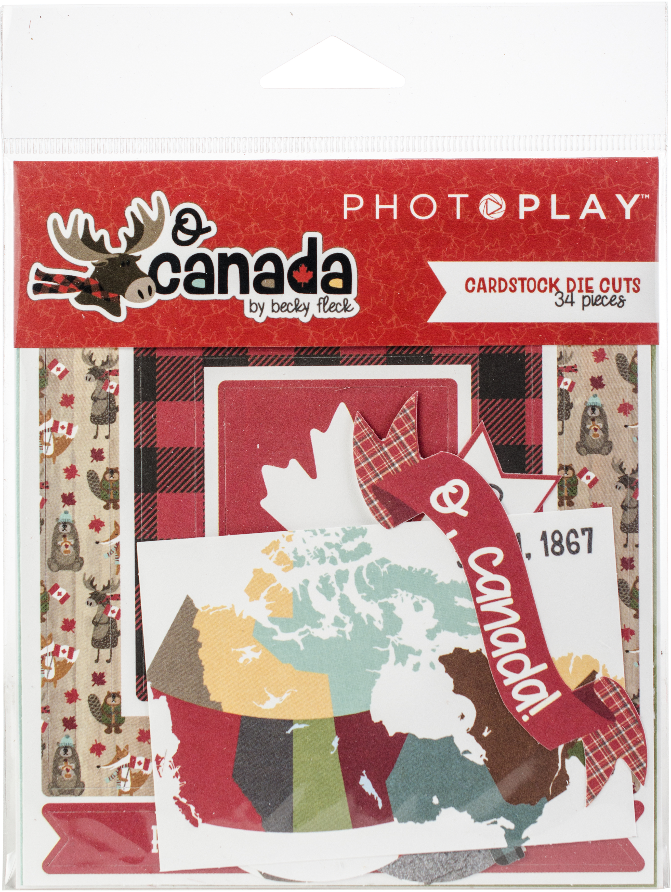 ^PhotoPlay O Canada Cardstock Die Cuts