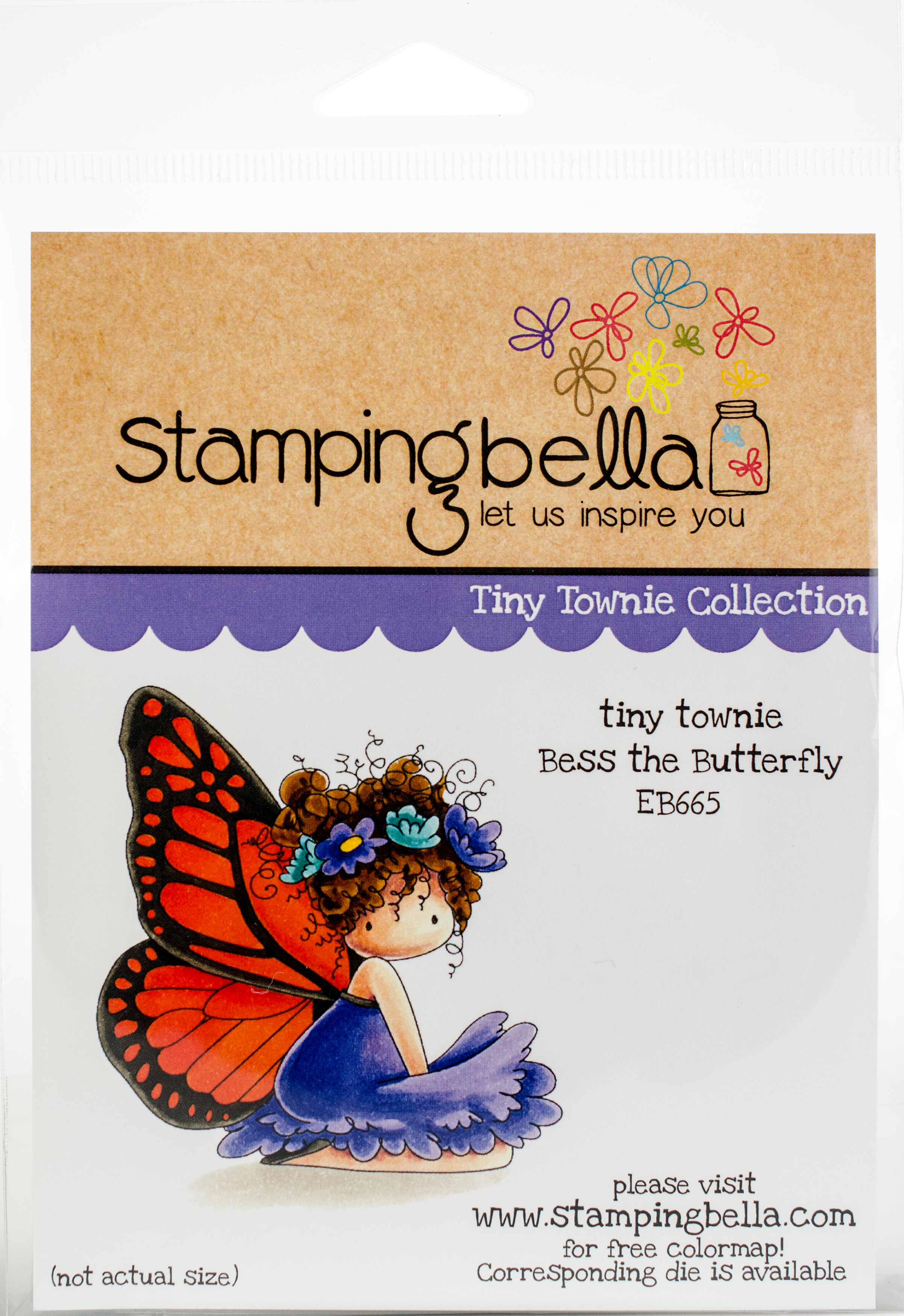 Stamping Bella Cling Stamps-Bess The Butterfly