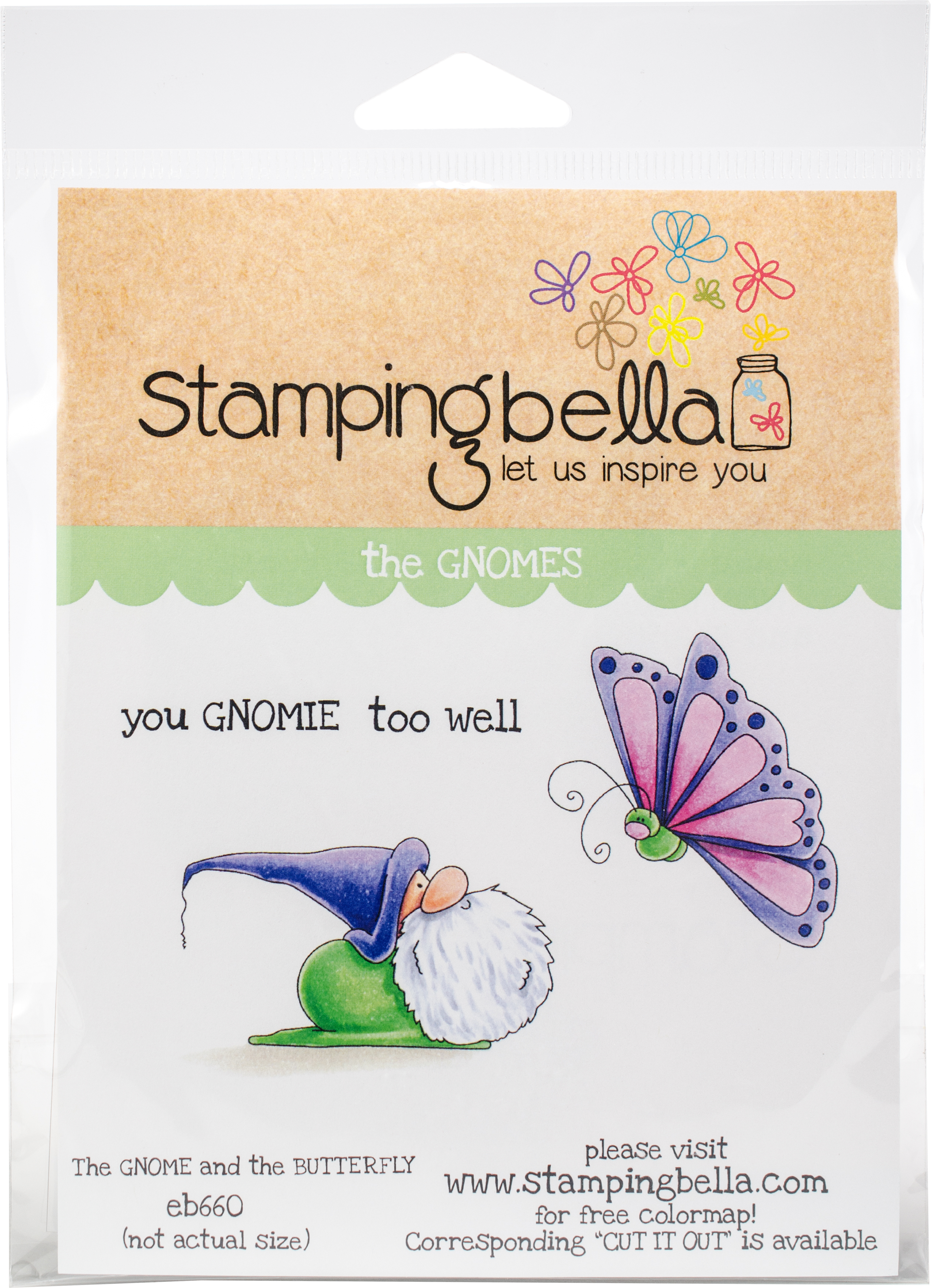 The Gnome & The Butterfly Stamp Set