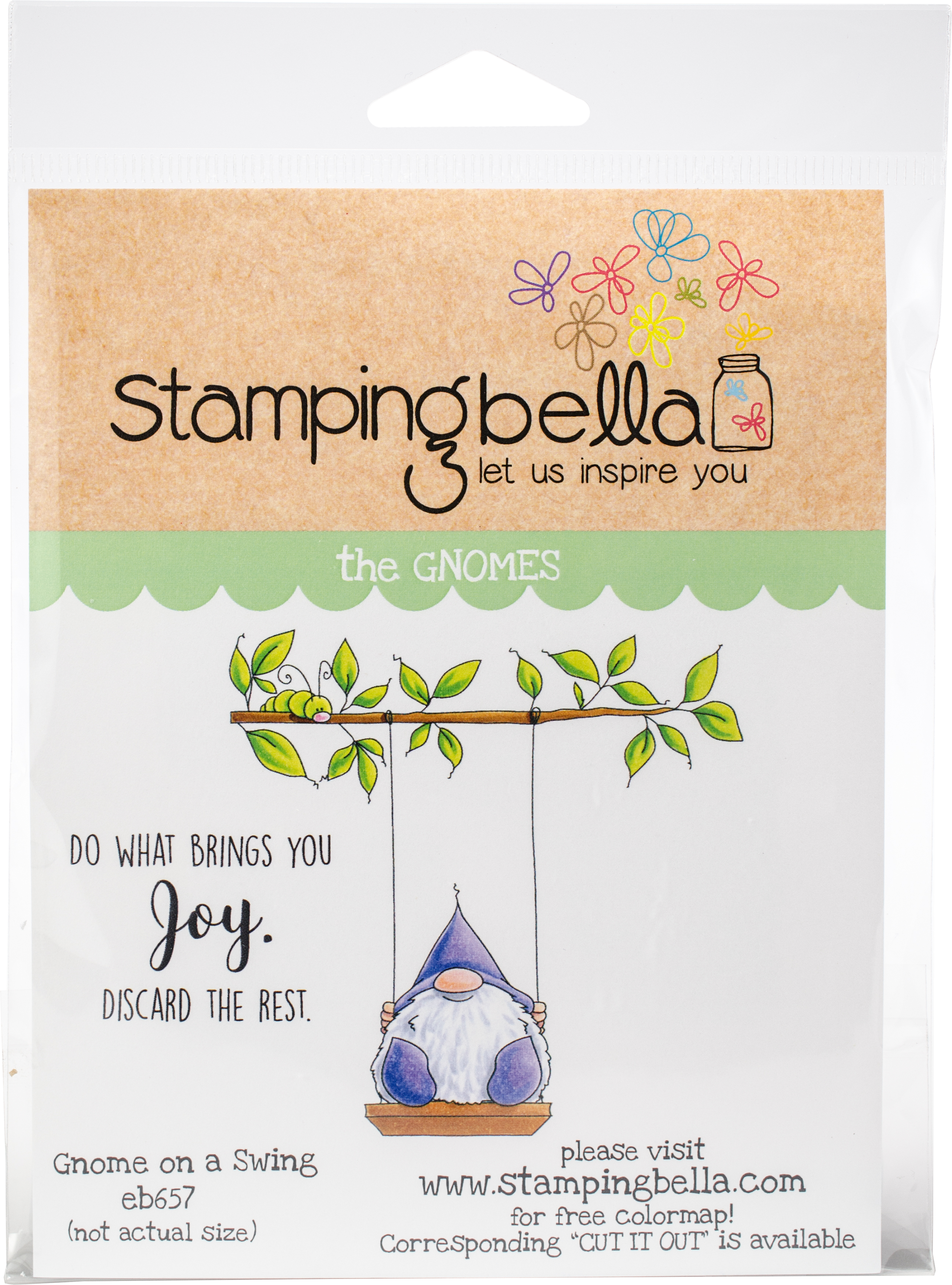 Gnome On A Swing Stamp Set