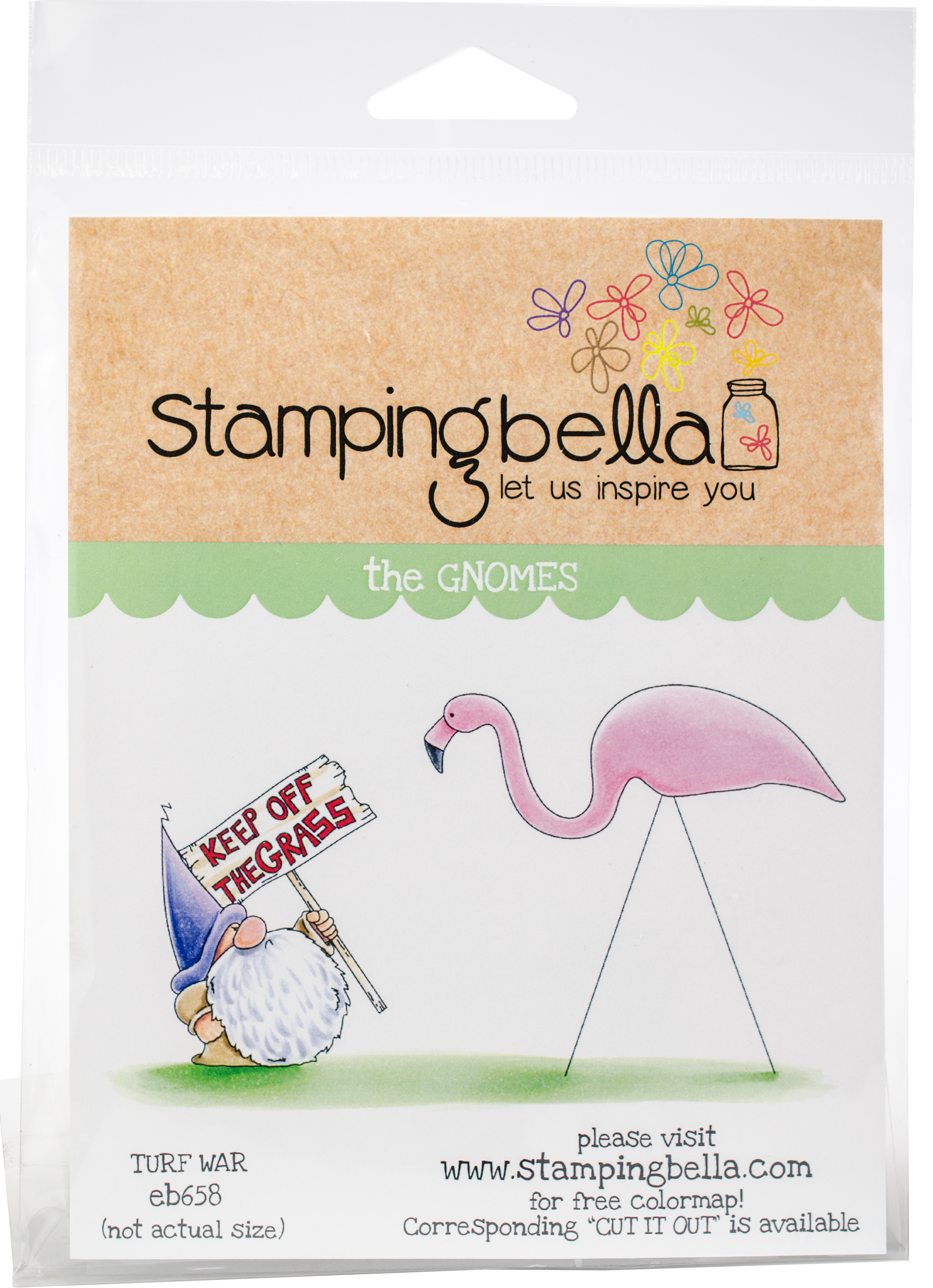 ^Stamping Bella The Gnomes Rubber Stamp Set Turf War (eb658)