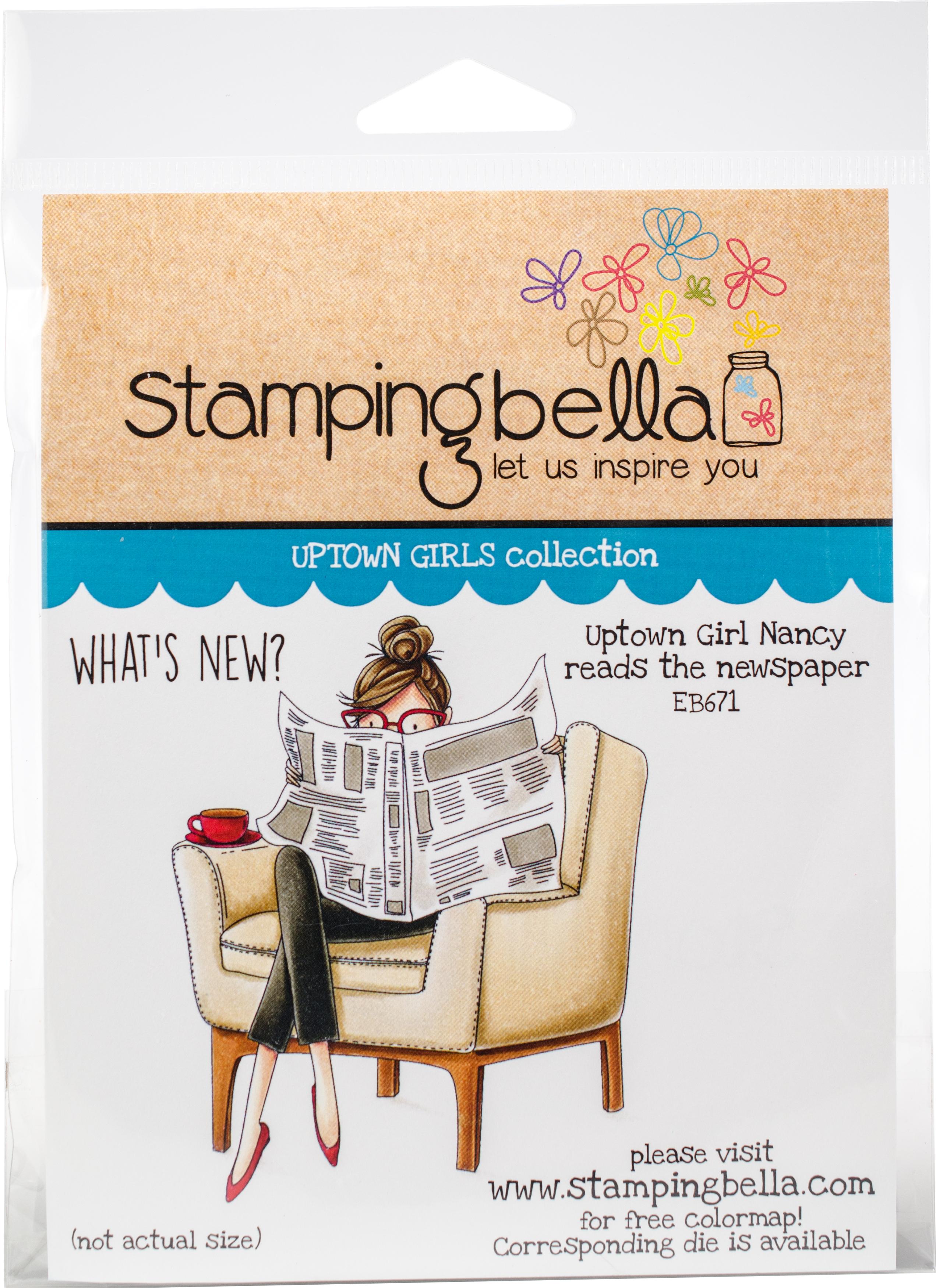 Uptown Girl Nancy Reads The Newspaper Stamp Set