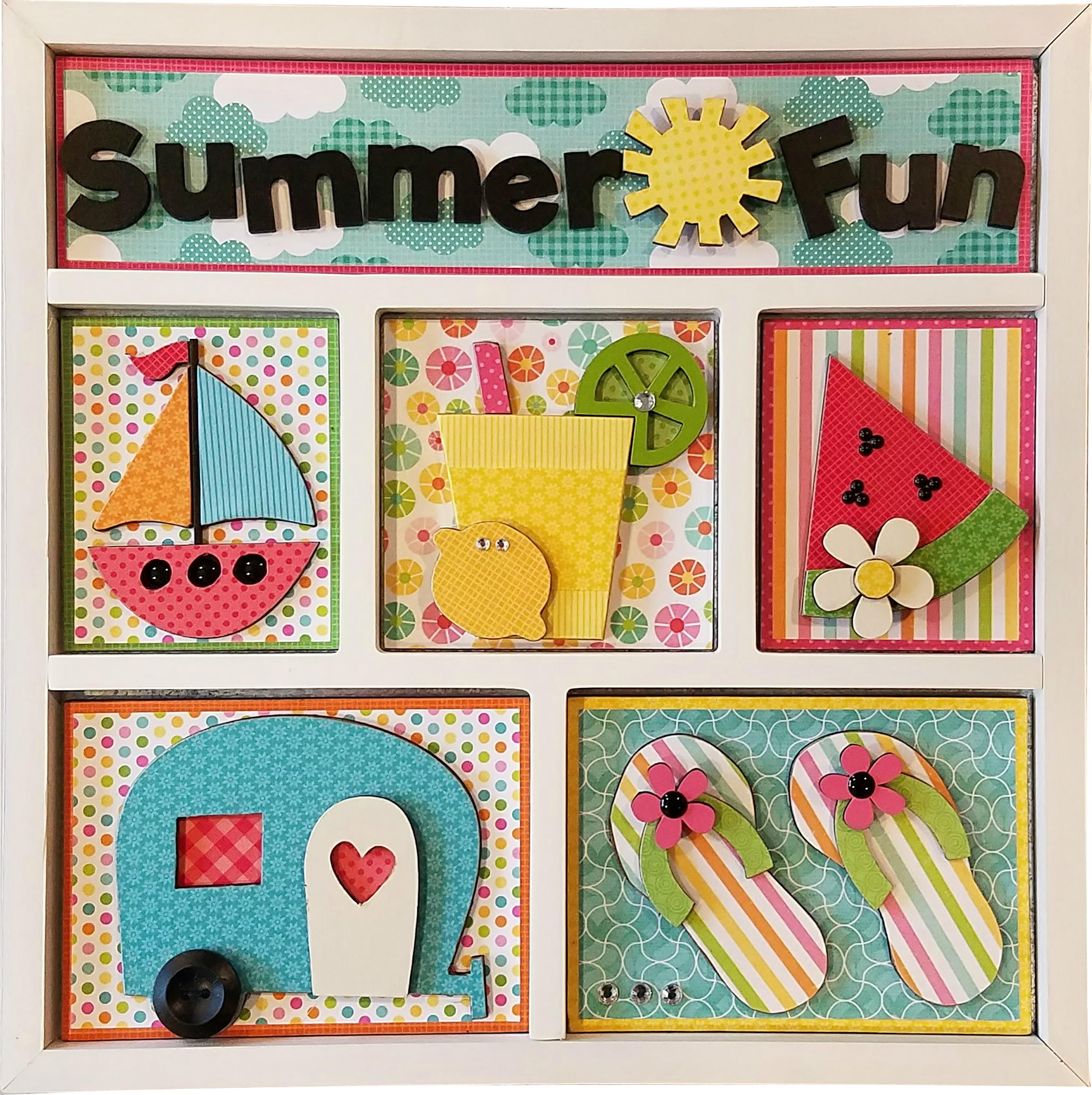 Foundations Decor Shadow Box Kit-Summer Fun
